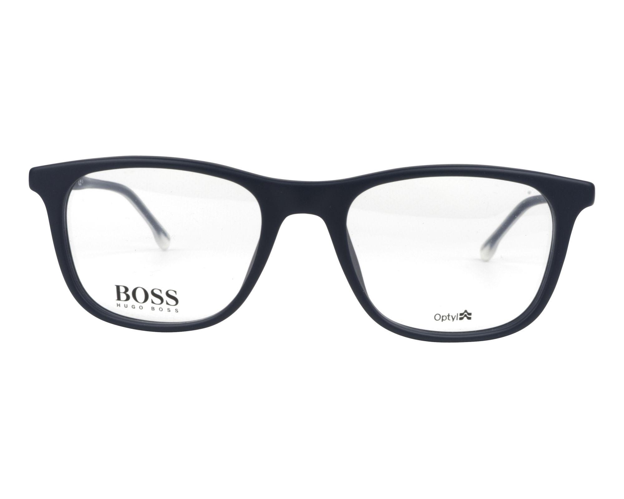 Lunettes de vue Hugo Boss BOSS-0966 RCT 52-19 Bleu Cristal vue de e2616db0b3fb