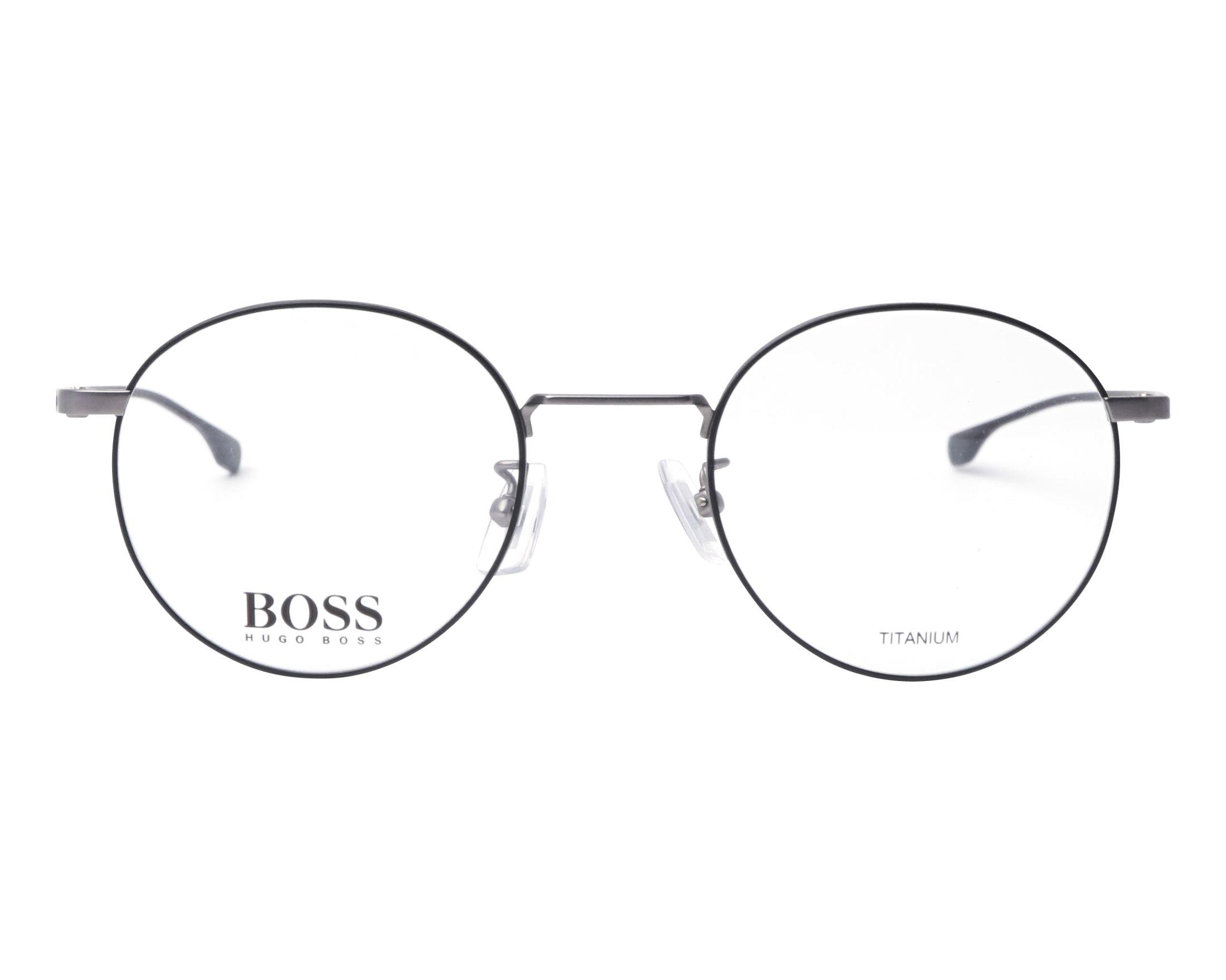 1b9a9f705f4579 Lunettes de vue Hugo Boss BOSS-0993-F TI7 49-22 Gunmetal Noir