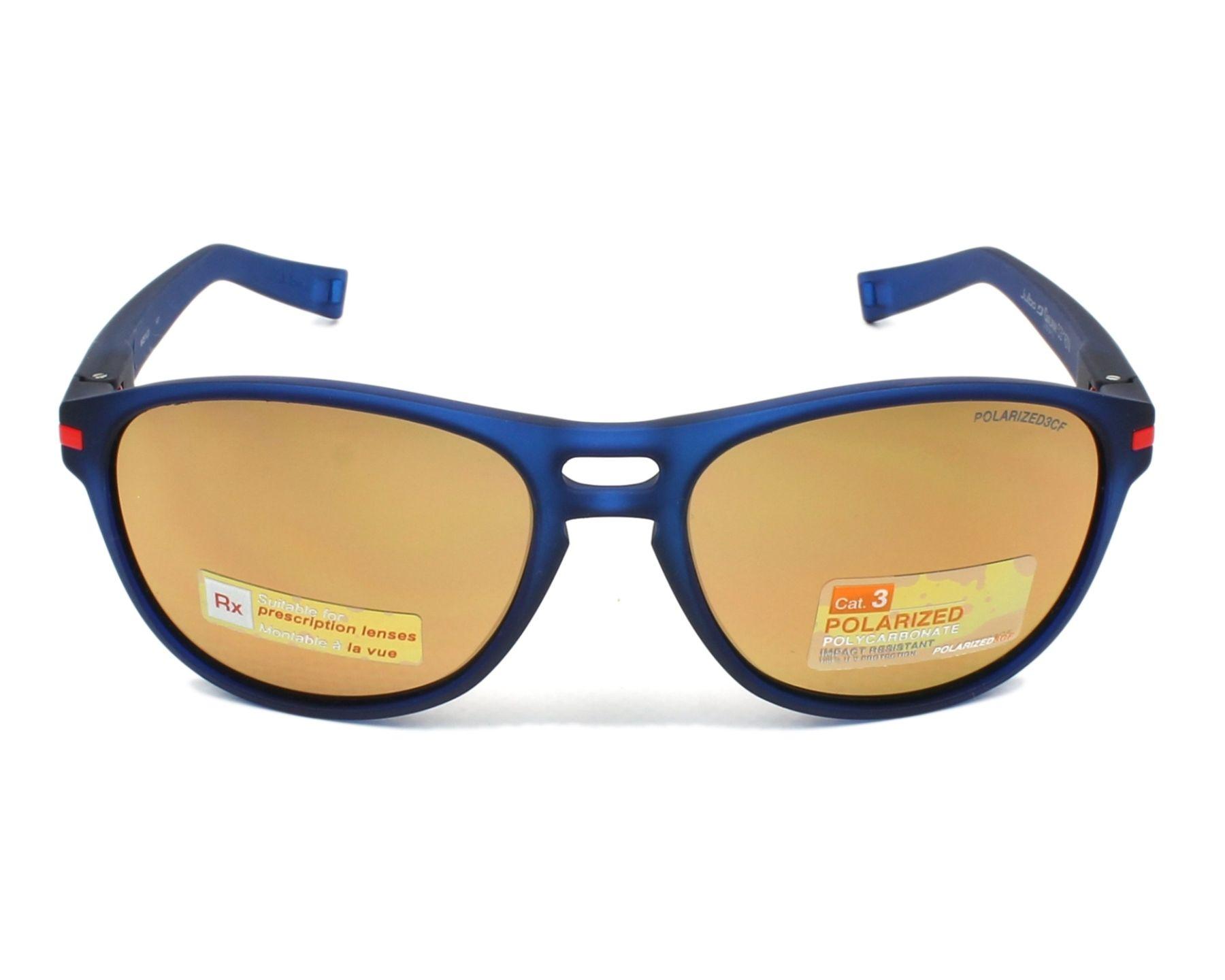 lunettes de soleil julbo j505 9412 bleu avec des verres gris marron. Black Bedroom Furniture Sets. Home Design Ideas