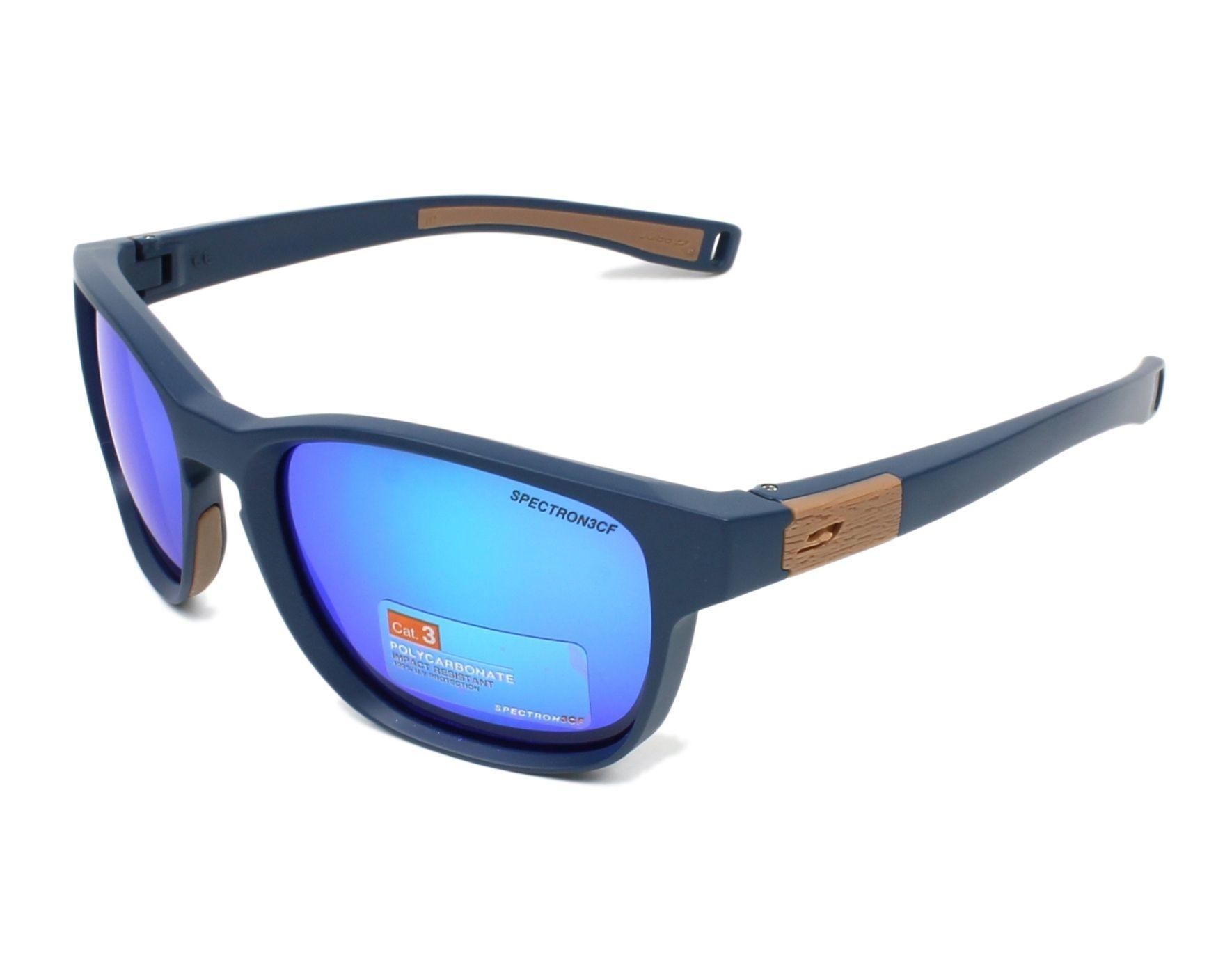 lunettes de soleil julbo j504 1112 bleu avec des verres gris vert. Black Bedroom Furniture Sets. Home Design Ideas