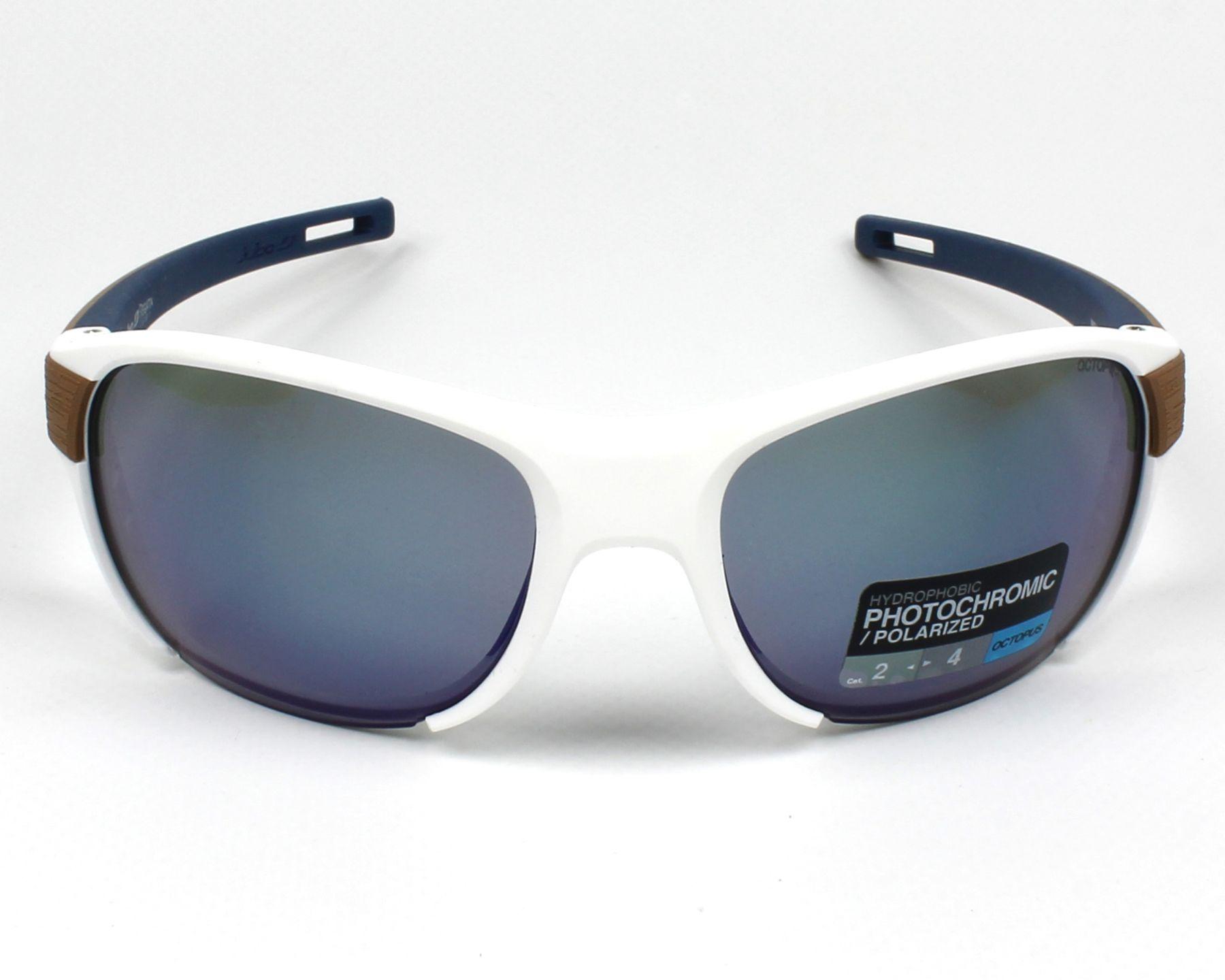 Lunettes de soleil julbo j500 8011 blanc avec des verres gris - Verre lunette raye assurance ...