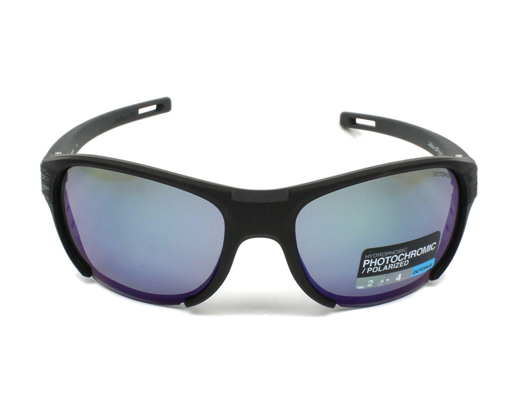 Lunettes de soleil julbo j500 8014 noir avec des verres gris - Verre lunette raye assurance ...