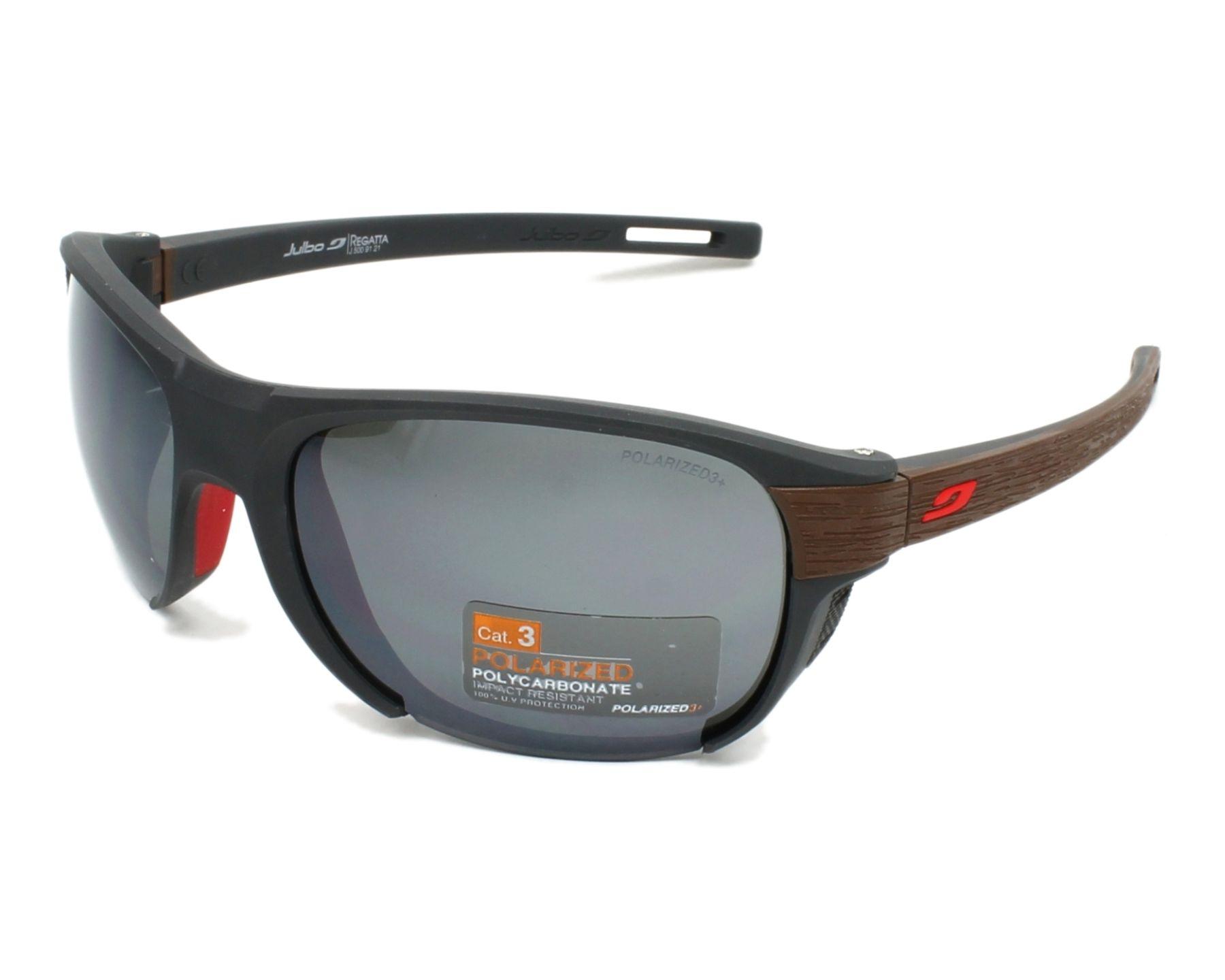 Lunettes de soleil julbo j500 9121 gris avec des verres gris - Verre lunette raye assurance ...
