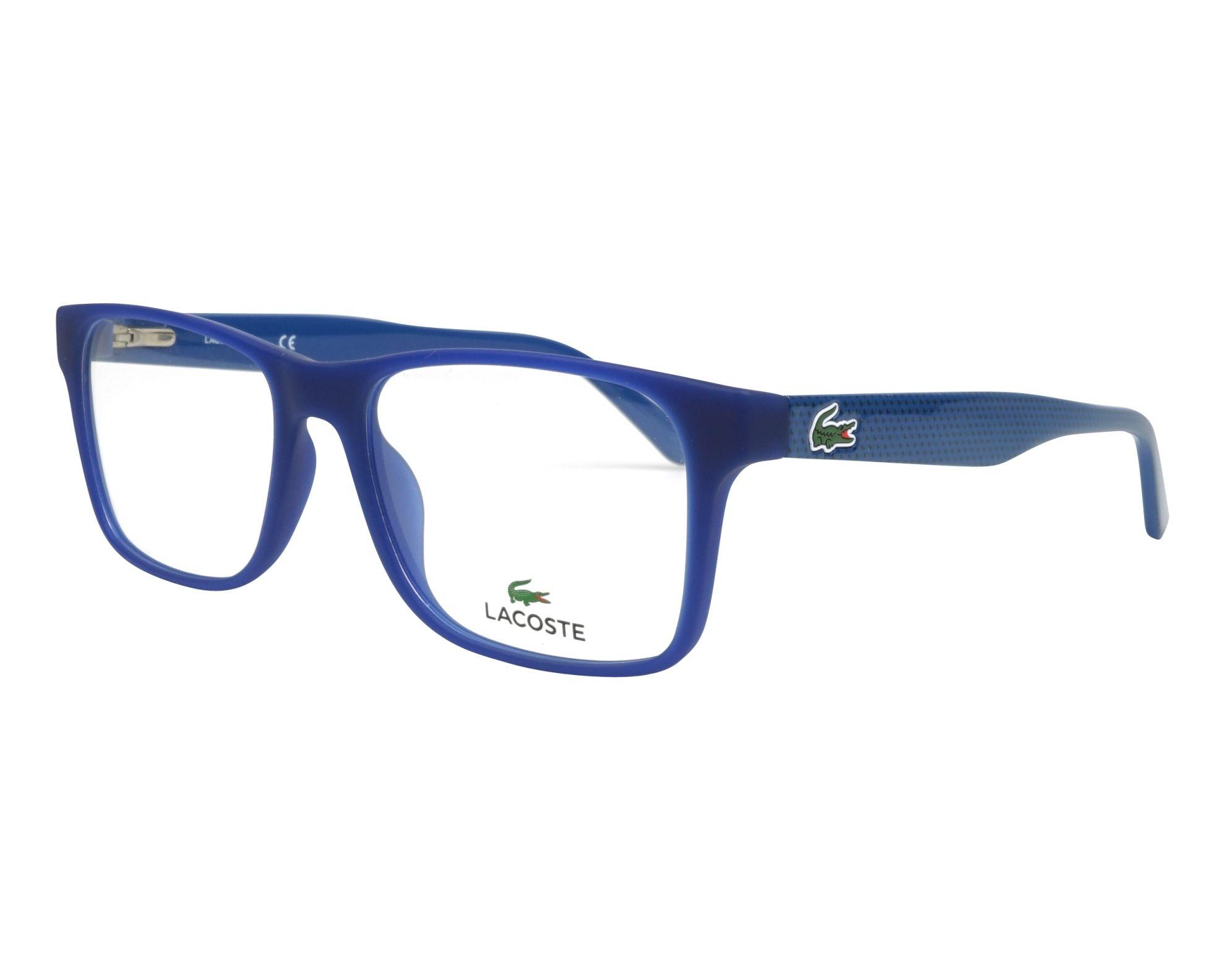 a51b5963355 Lunettes de vue Lacoste L-2741 414 53-17 Bleu Bleu vue de profil