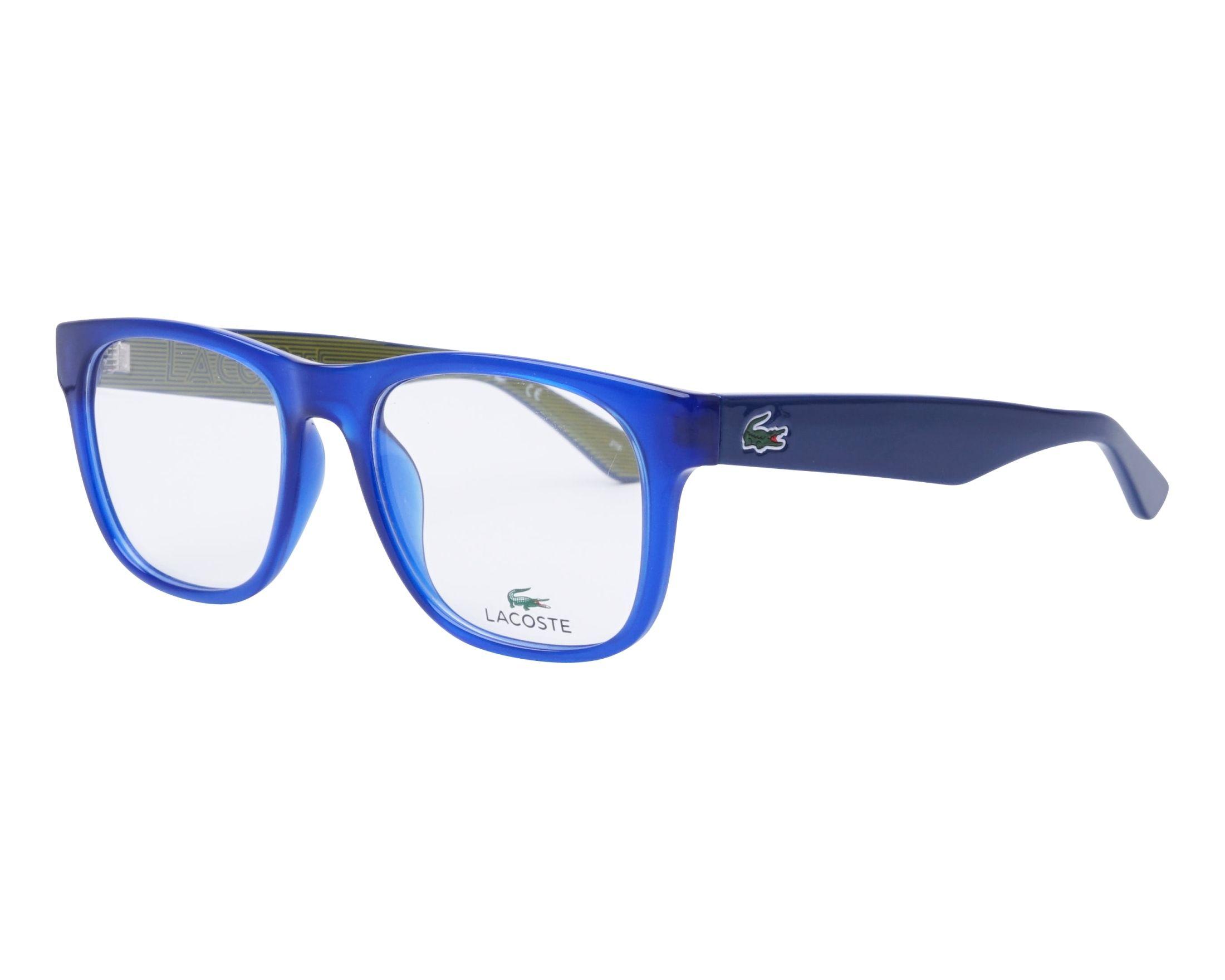 738d2a8fc0 Lunettes de vue Lacoste L-2771 424 53-18 Bleu Bleu vue de profil