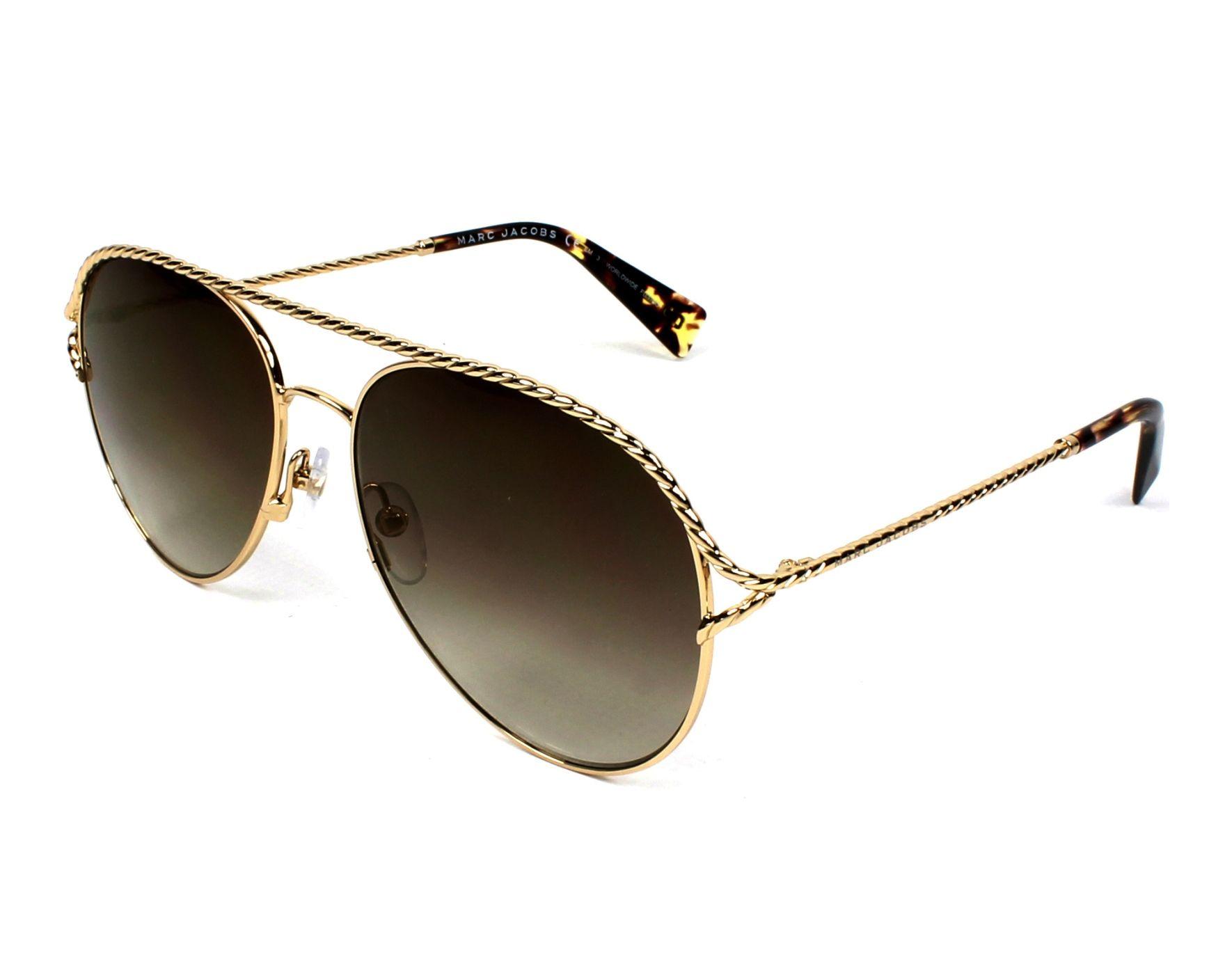 Marc Jacobs - Lunettes de vue à monture aviateur avec verres transparents - Doré - Doré XXR1WatiQQ