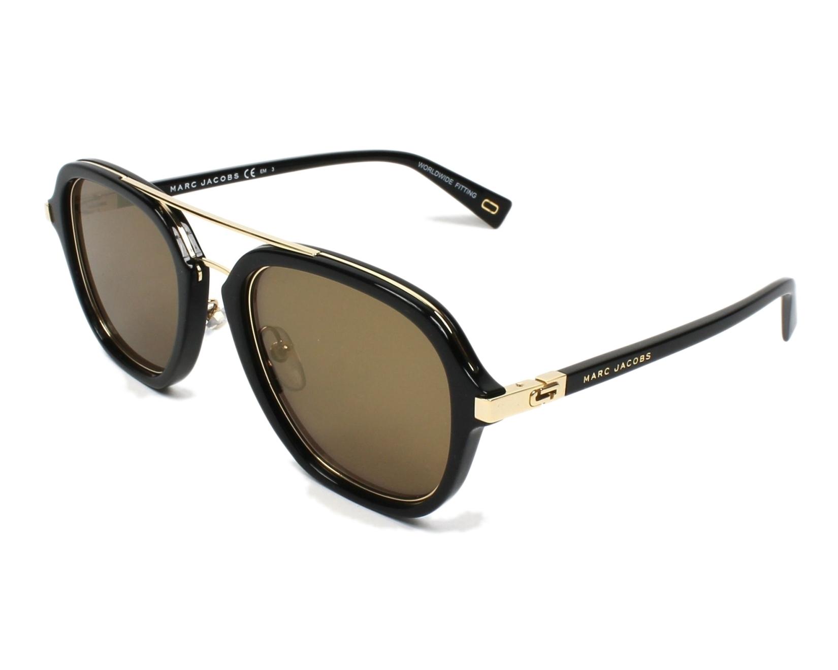 45ebe5077a528 Lunettes de soleil Marc Jacobs MARC-172-S 2M2 K1 - Noir Or