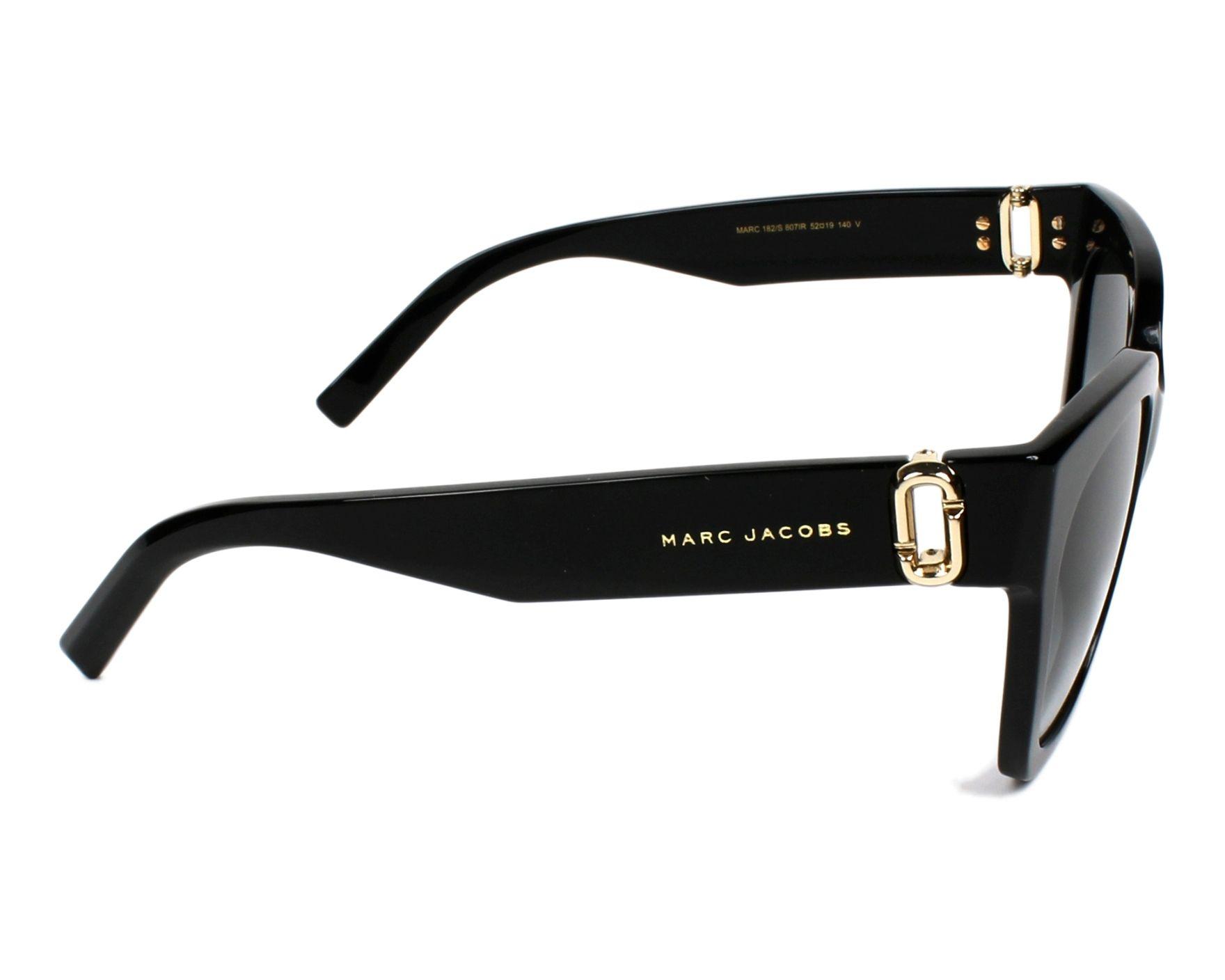 a080ef42d9d Lunettes de soleil Marc Jacobs MARC-182-S 807 IR - Noir Or