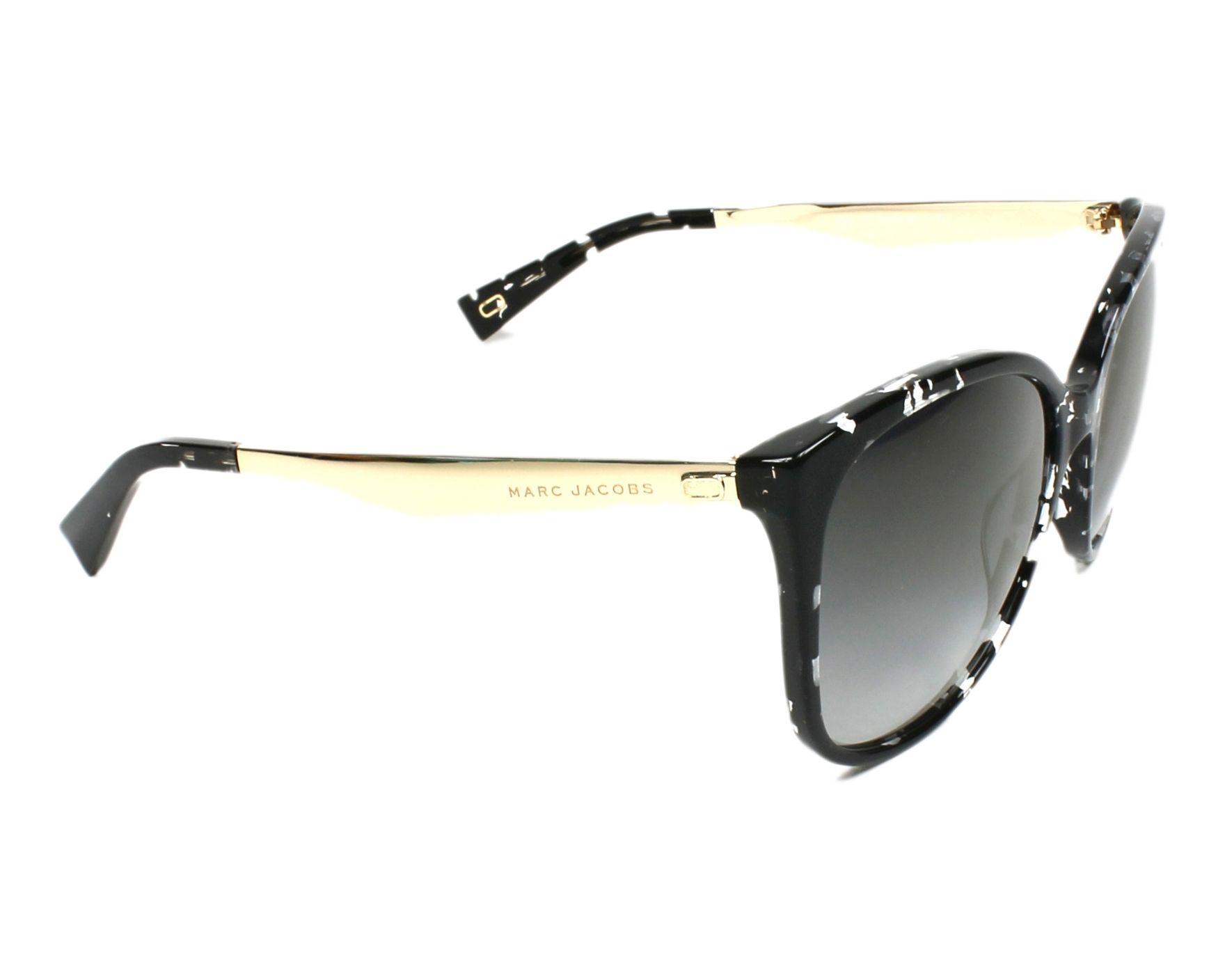 588f7ef4d077d Lunettes de soleil Marc Jacobs MARC-203-S 9WZ FQ - Noir Cristal