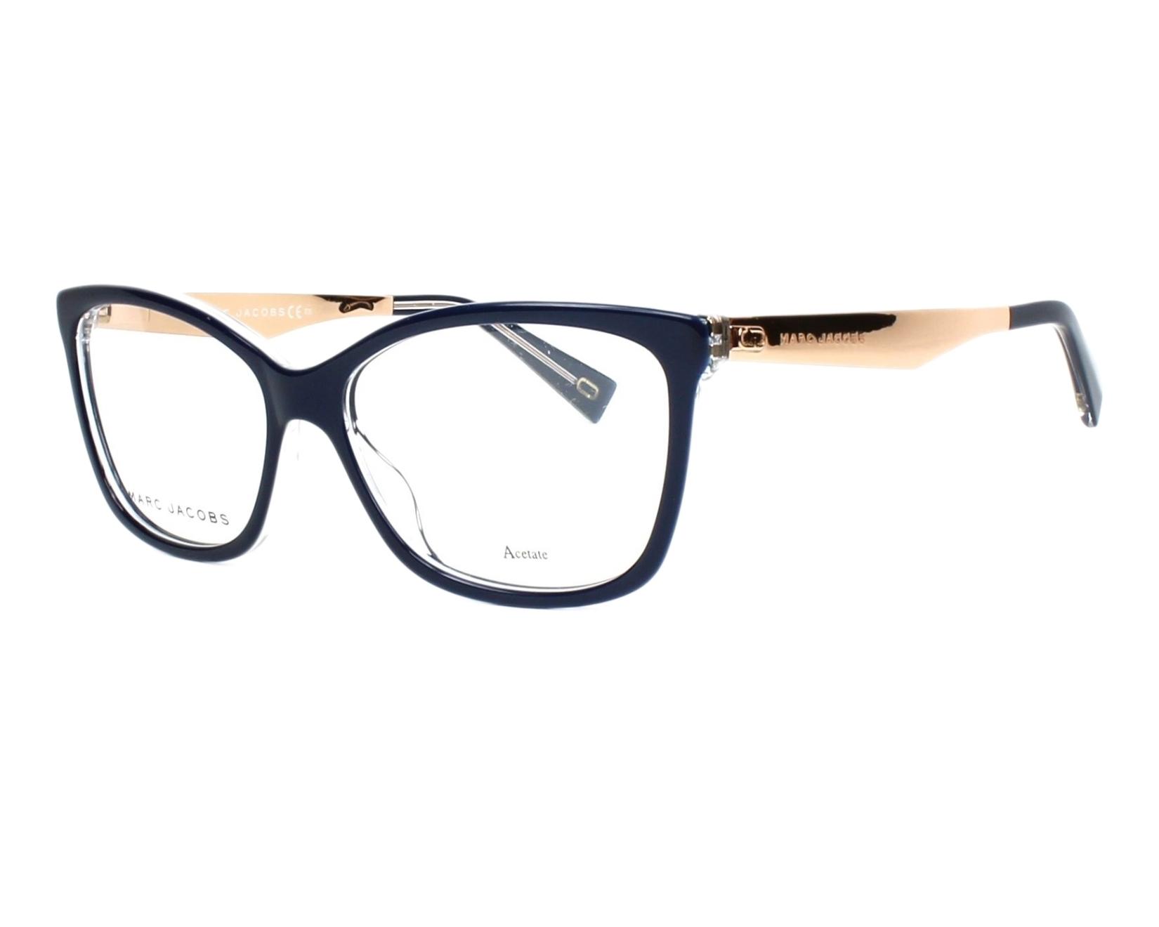 Lunettes de vue Marc Jacobs MARC-206 PJP - Bleu Rose doré vue de profil ddceabb2e830