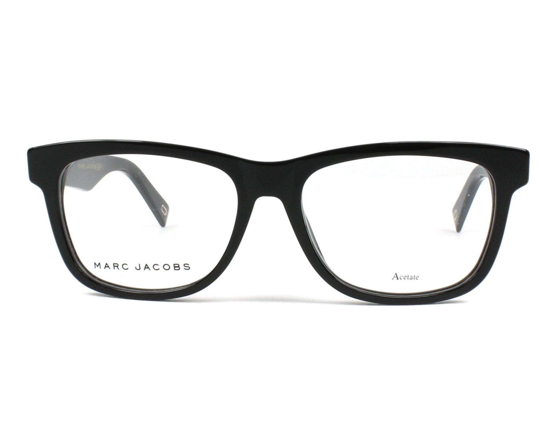Lunettes de vue Marc Jacobs MARC-235 807 53-16 Noir vue de face d977446fb3ad