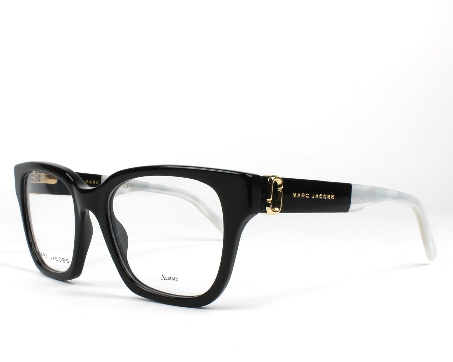50a17bfe635c0 Lunettes de vue Marc Jacobs MARC-250 807 51-19 Noir Blanc vue de