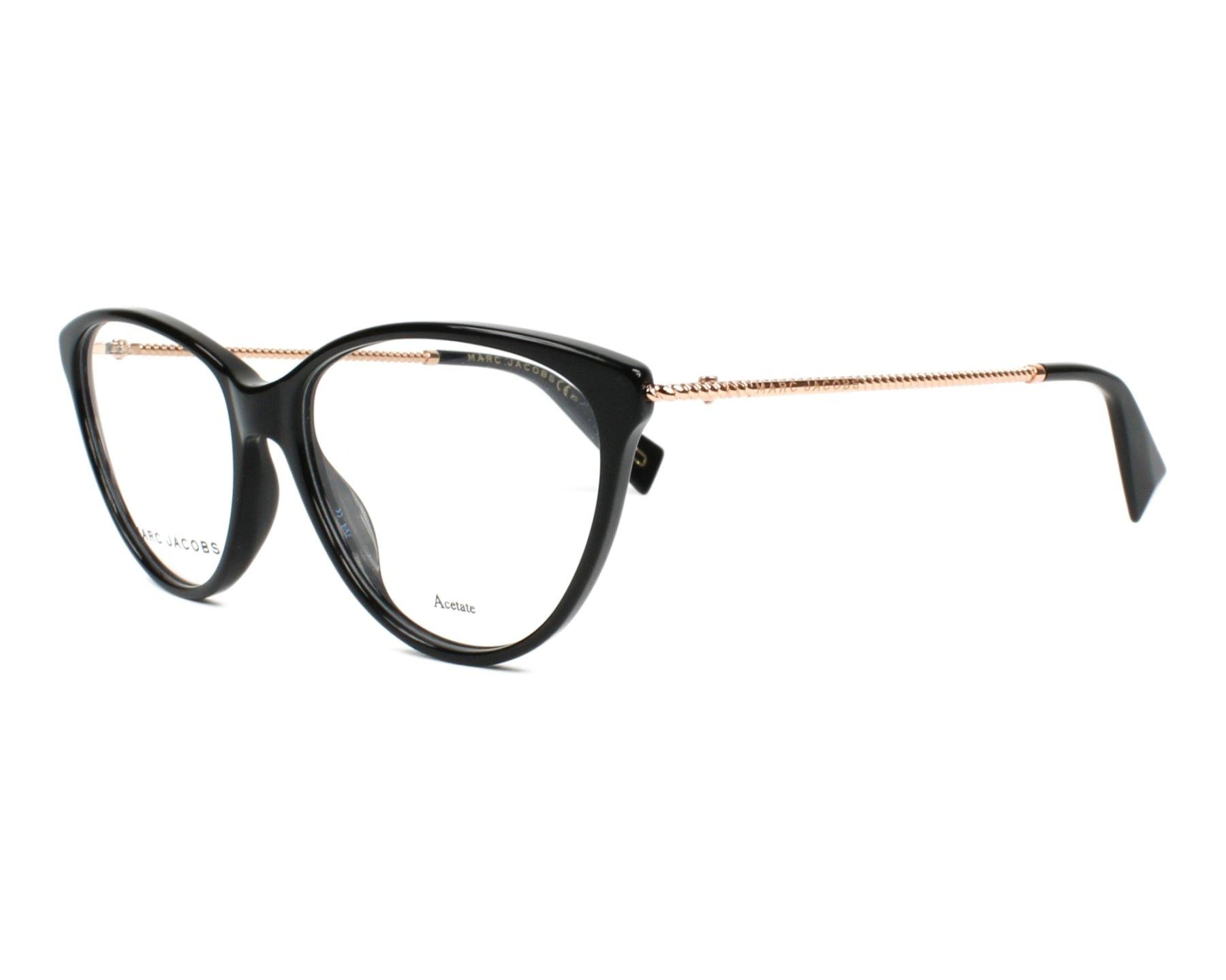 a28183ee7f495 Lunettes de vue Marc Jacobs MARC-259 807 54-16 Noir Cuivre doré vue