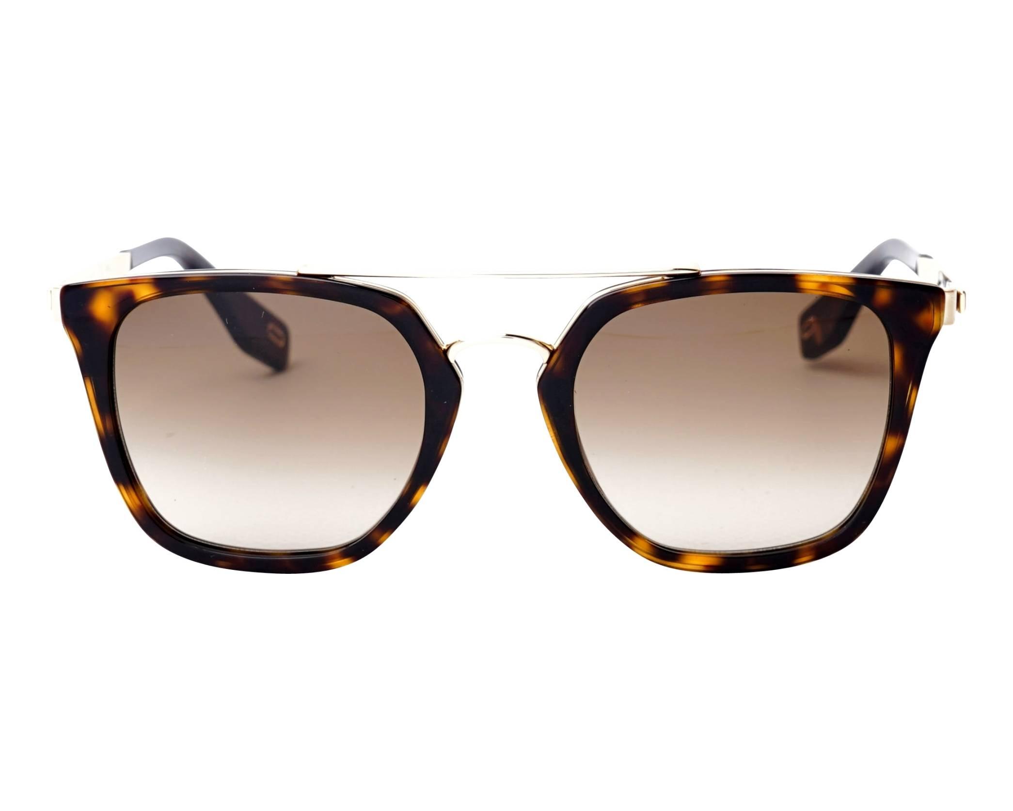 Lunettes de soleil Marc Jacobs MARC-270-S 2IKHA 51-21 Havane Or 47282c760c40