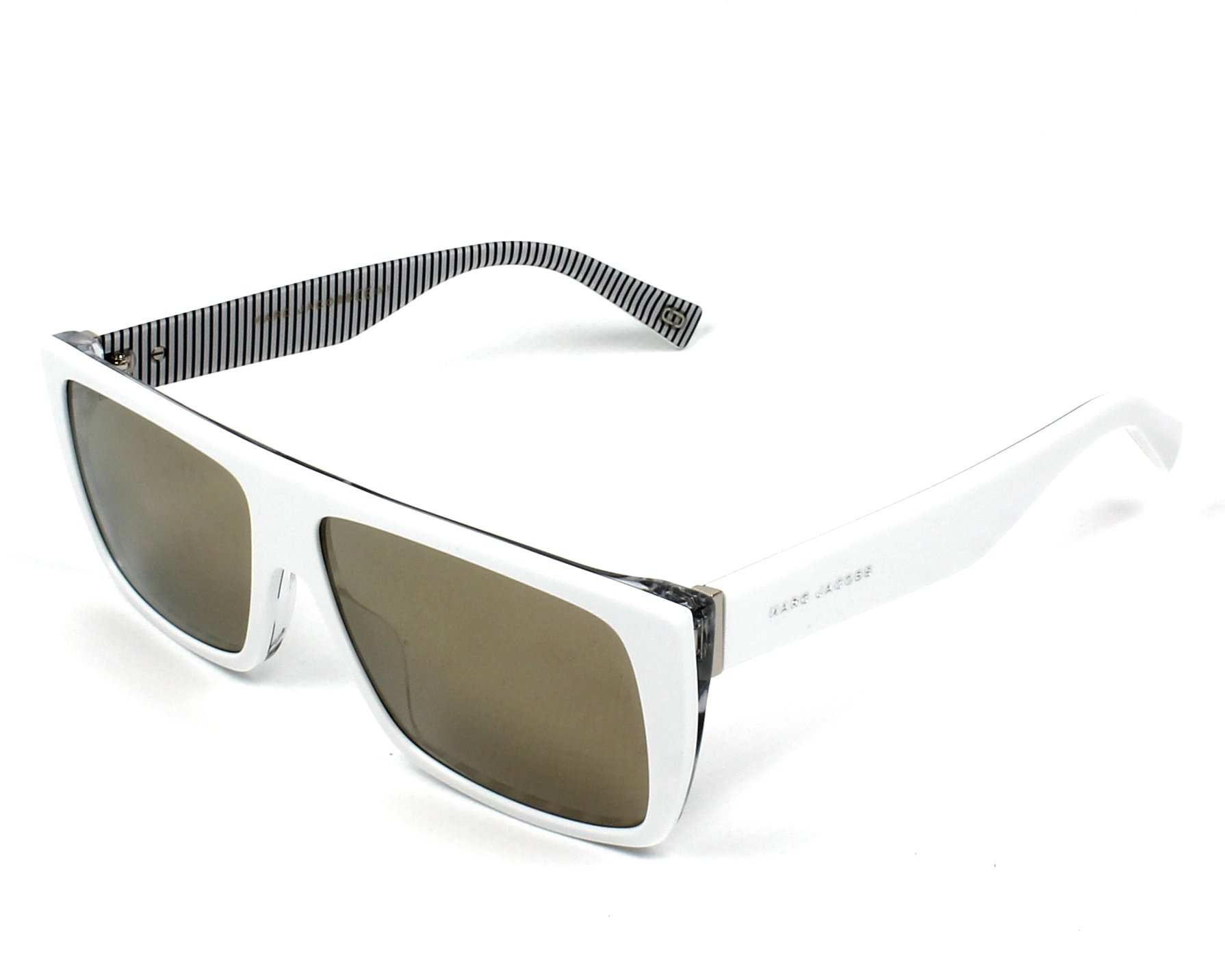 Lunettes de soleil marc jacobs marc icon 096 s 7ll ue blanc avec des verres gris - Verre lunette raye assurance ...
