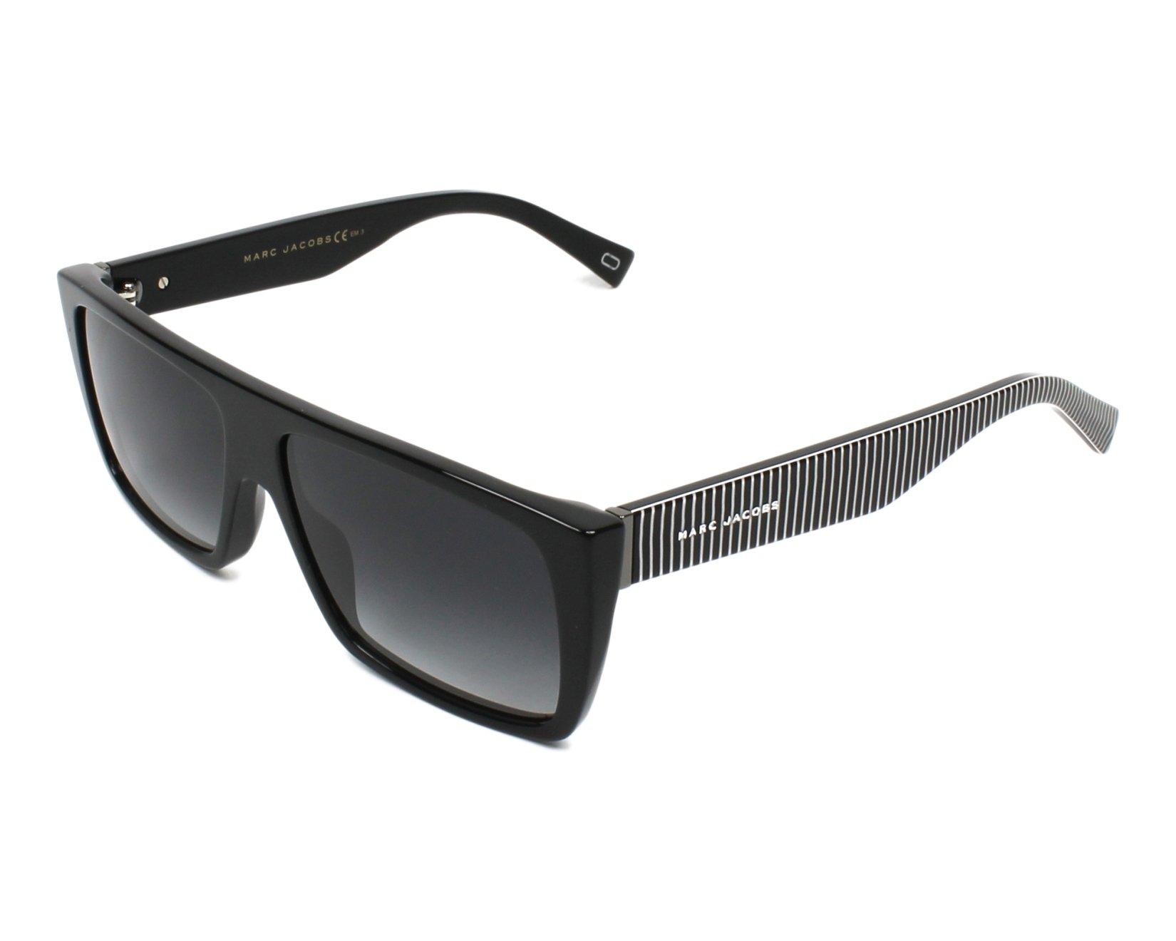 Lunettes de soleil marc jacobs marc icon 096 s 807 9o noir avec des verres gris - Verre lunette raye assurance ...