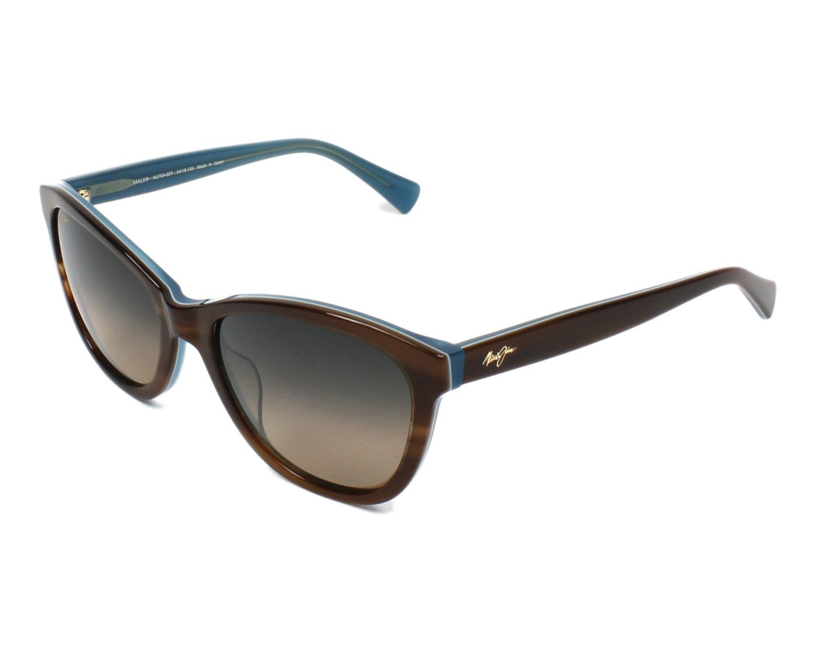 Lunettes de soleil maui jim hs 769 03t havane avec des verres gris pour femmes - Verre lunette raye assurance ...
