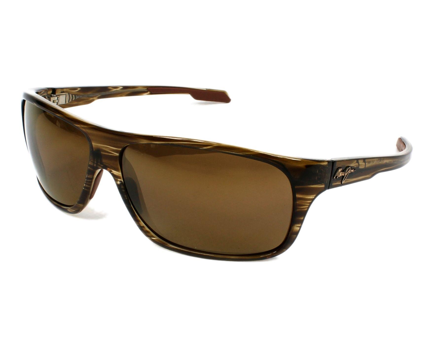 Lunettes de soleil maui jim h 237 15 marron avec des verres marron - Verre lunette raye assurance ...