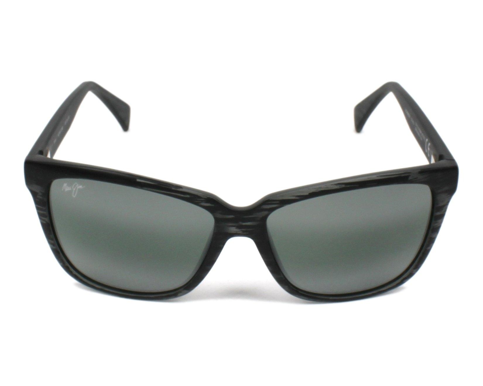 Lunettes de soleil maui jim 763 11ms noir avec des verres gris - Verre lunette raye assurance ...