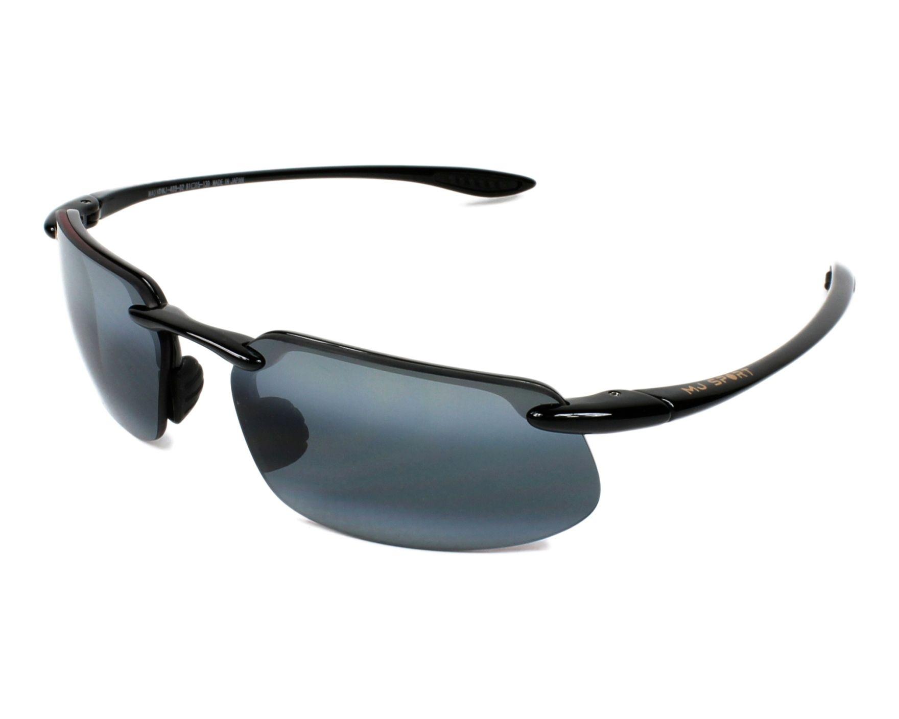 baa7e6d6a94aa6 Lunettes de soleil Maui Jim 409 02 61-15 Noir vue de profil