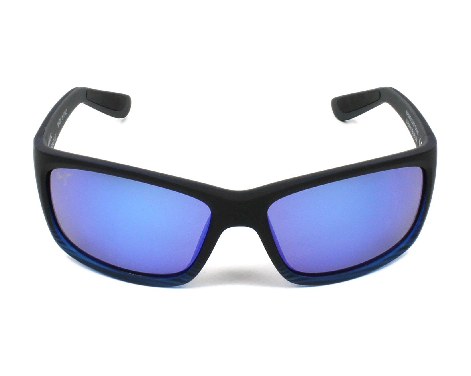 92c5f3336fa Lunettes de soleil Maui Jim B-766 08C 61-17 Noir vue de face