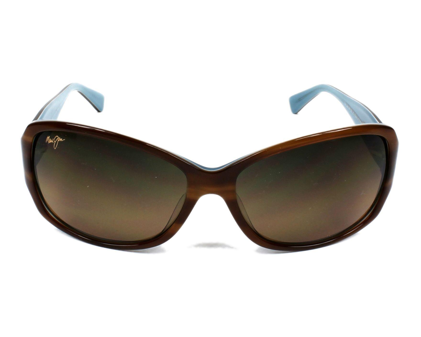 Lunettes de soleil maui jim hs 295 03t havane avec des verres bronze - Verre lunette raye assurance ...