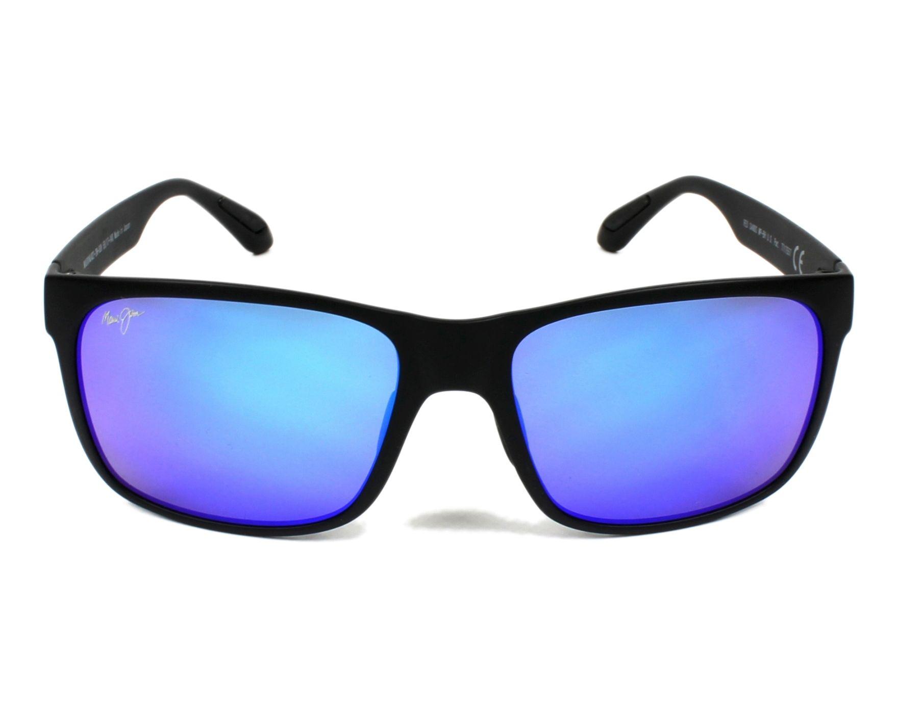 e3fd34e91fbdfa Lunettes de soleil Maui Jim B-432 2M 59-17 Noir vue de face