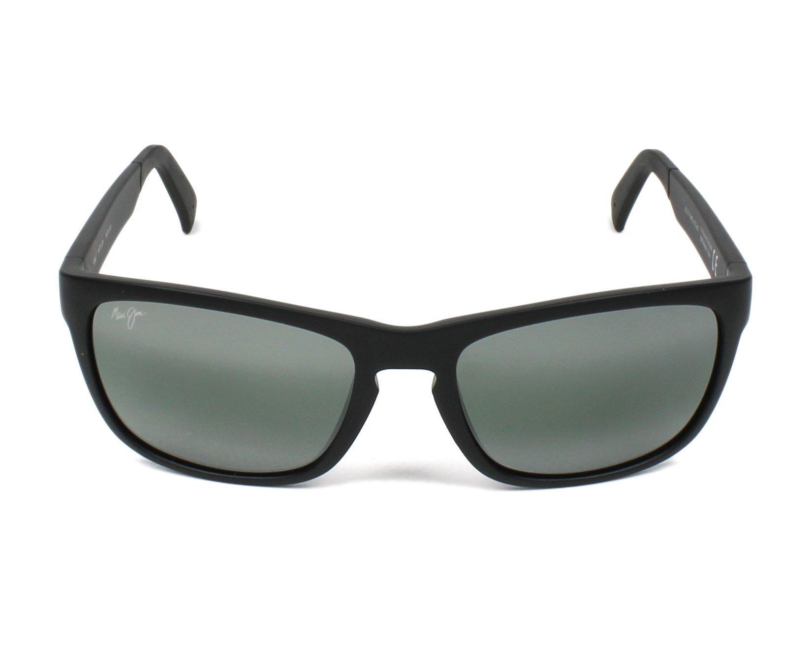 Lunettes de soleil maui jim 755 2m noir avec des verres gris for Miroir 2m