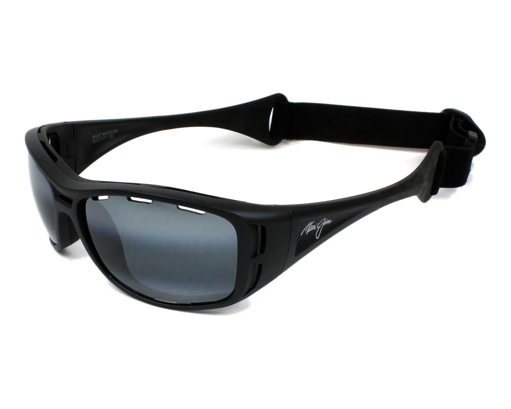 Lunettes de soleil maui jim 410 2m noir avec des verres gris for Miroir 2m