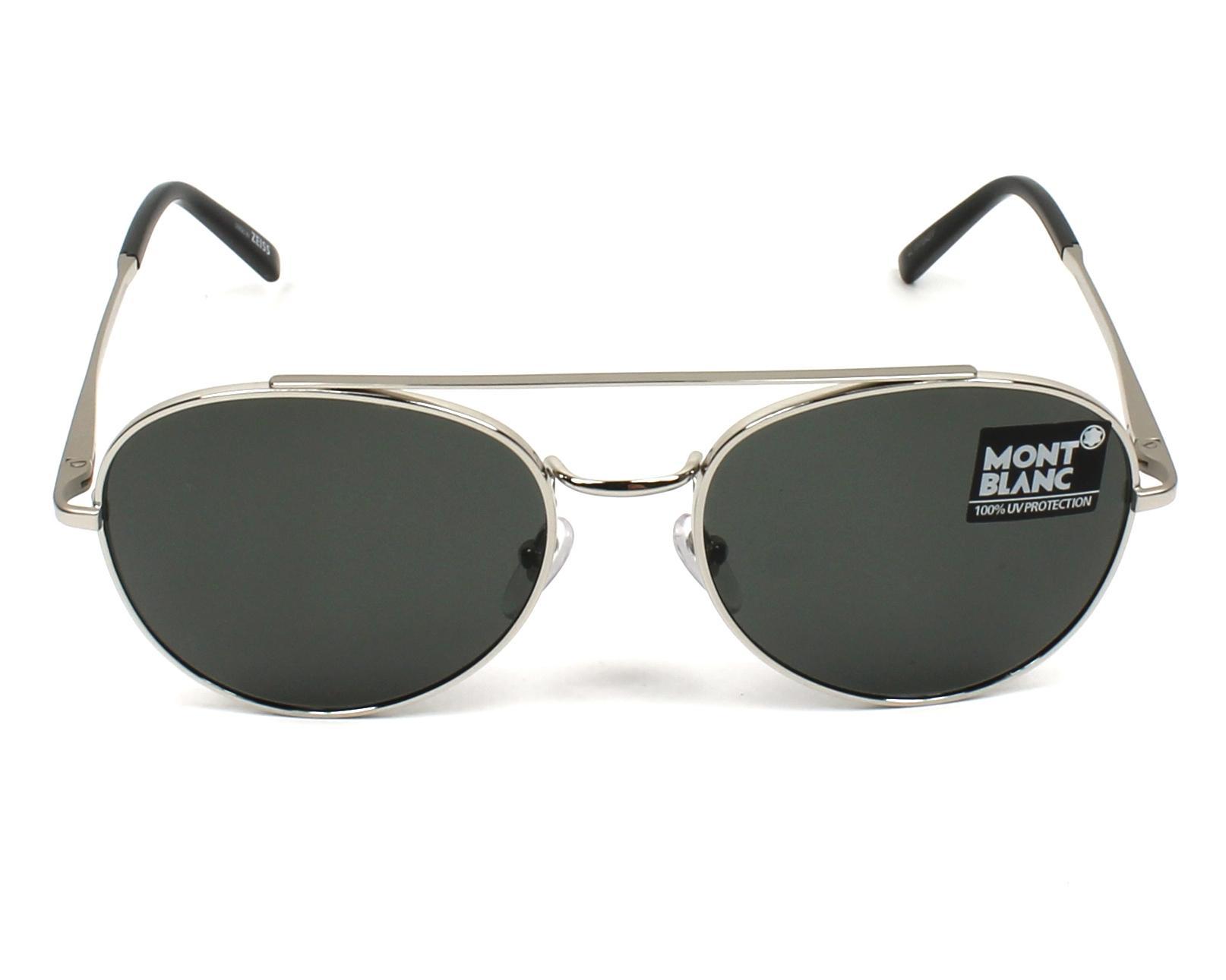 lunettes de soleil mont blanc mb 605 s 16d argent avec des verres gris. Black Bedroom Furniture Sets. Home Design Ideas
