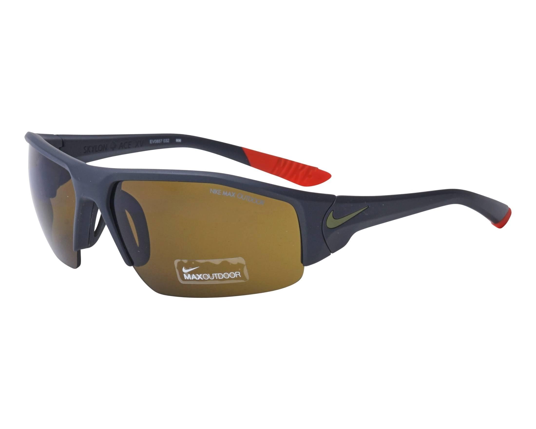 Lunettes de soleil Nike EV-0857 032 75-14 Noir vue de profil bdb693842d55