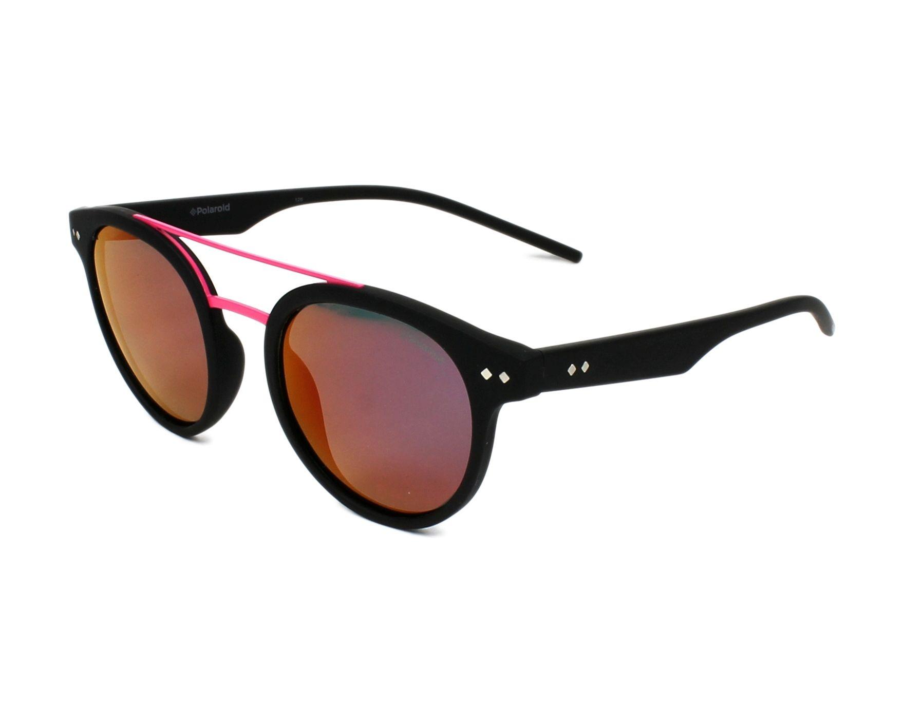 lunettes de soleil polaroid pld 6031 s 003 ai noir avec des verres gris vert pour mixte. Black Bedroom Furniture Sets. Home Design Ideas