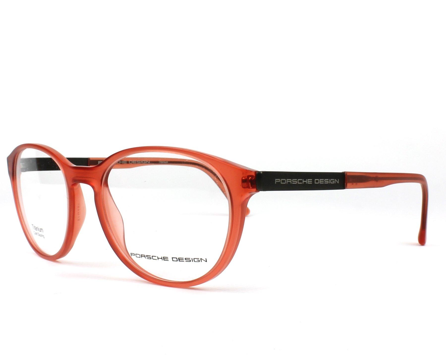 Porsche Design Eyeglasses P 8261 C Red Visionet