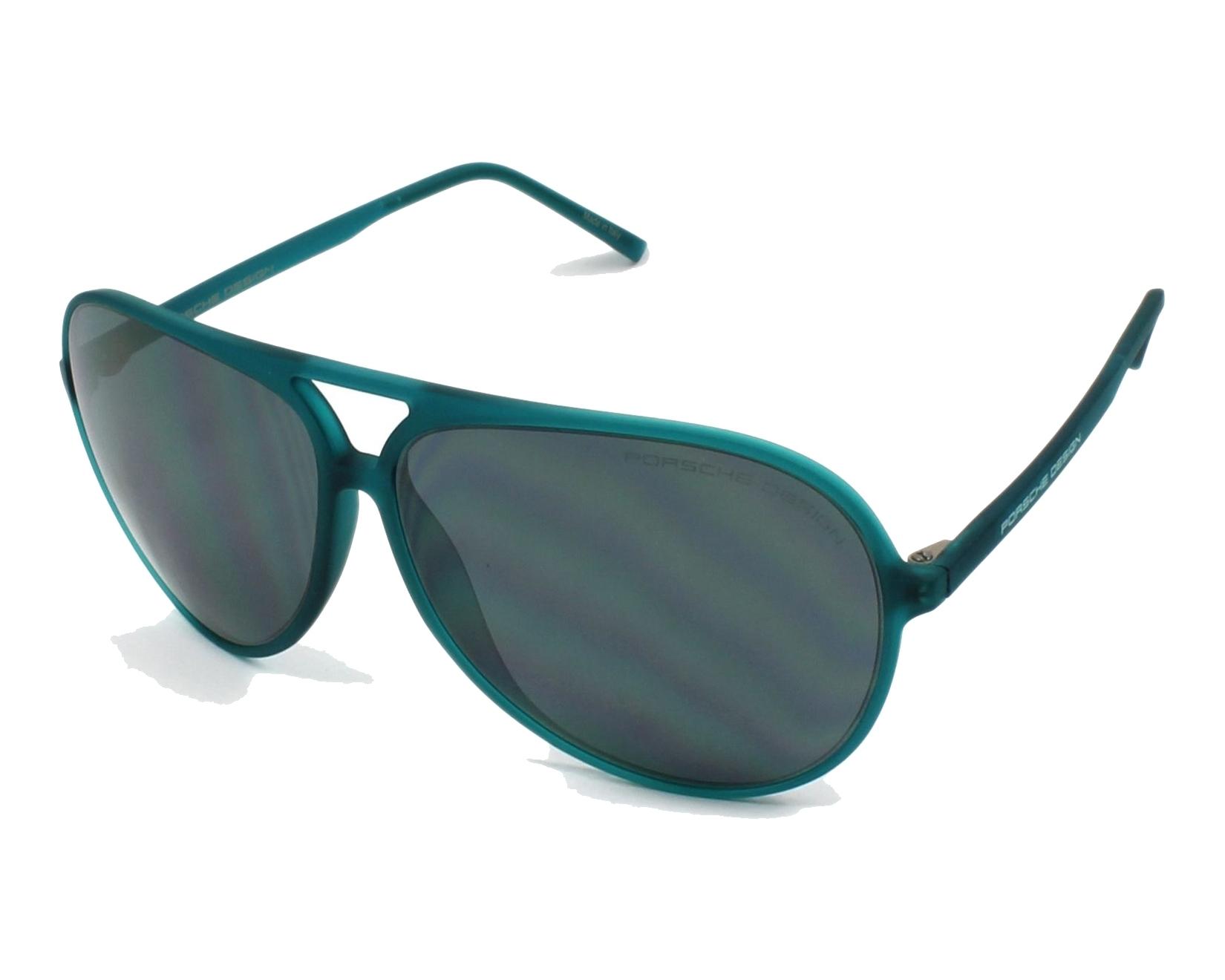 lunettes de soleil porsche design p 8595 a vert avec des verres gris pour hommes. Black Bedroom Furniture Sets. Home Design Ideas
