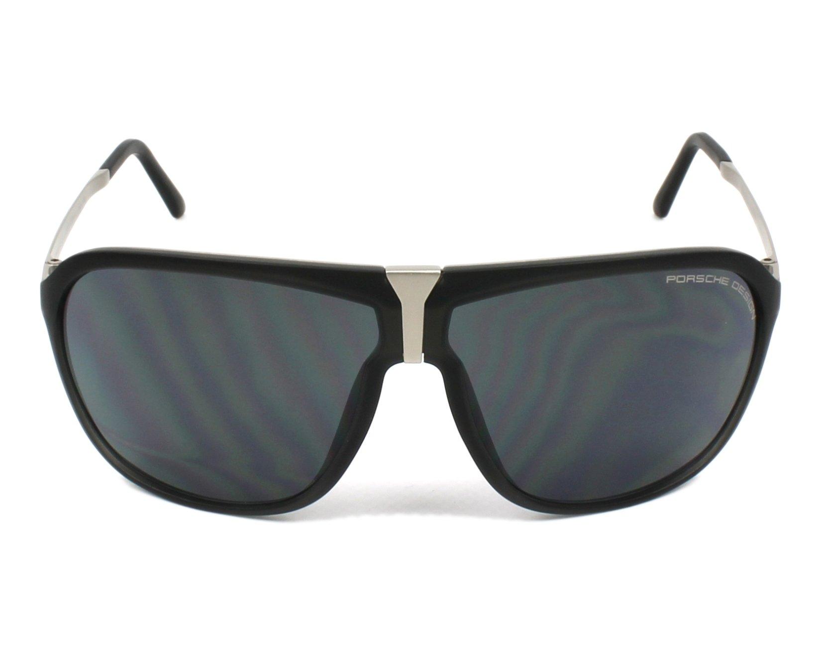 lunettes de soleil porsche design p 8618 a noir avec des verres bleu gris pour hommes. Black Bedroom Furniture Sets. Home Design Ideas
