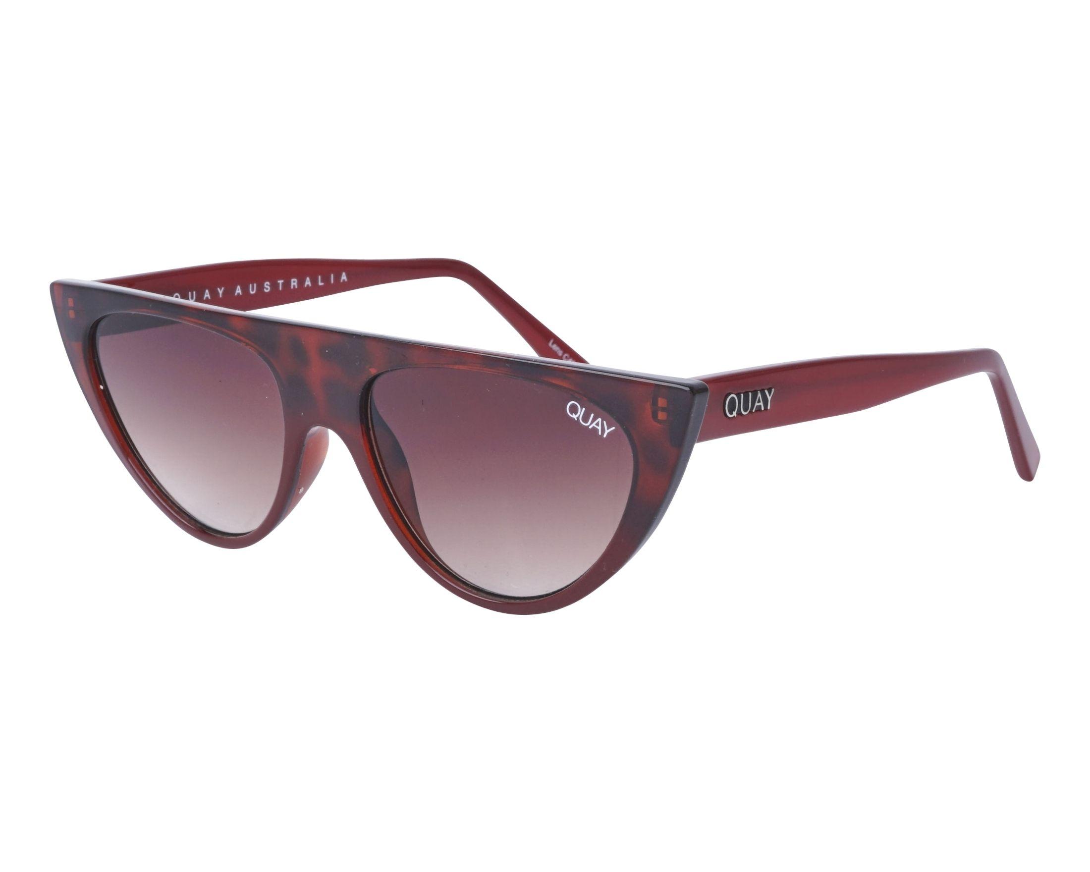 df52c1419e8d6 Lunettes de soleil Quay Australia QW-000296 TORTRD-BRN 57-15 Bordeaux  Bordeaux