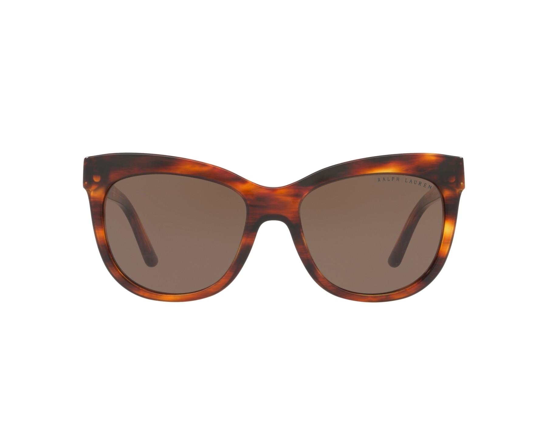 lunettes de soleil ralph lauren rl 8158 500773 marron avec des verres marron pour femmes taille. Black Bedroom Furniture Sets. Home Design Ideas