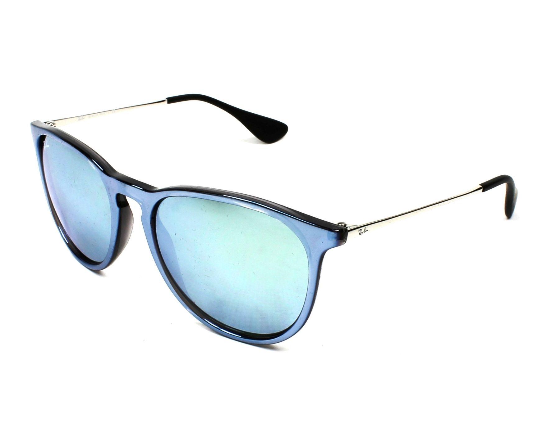 lunettes de soleil ray ban rb 4171 631930 bleu avec des verres gris vert. Black Bedroom Furniture Sets. Home Design Ideas