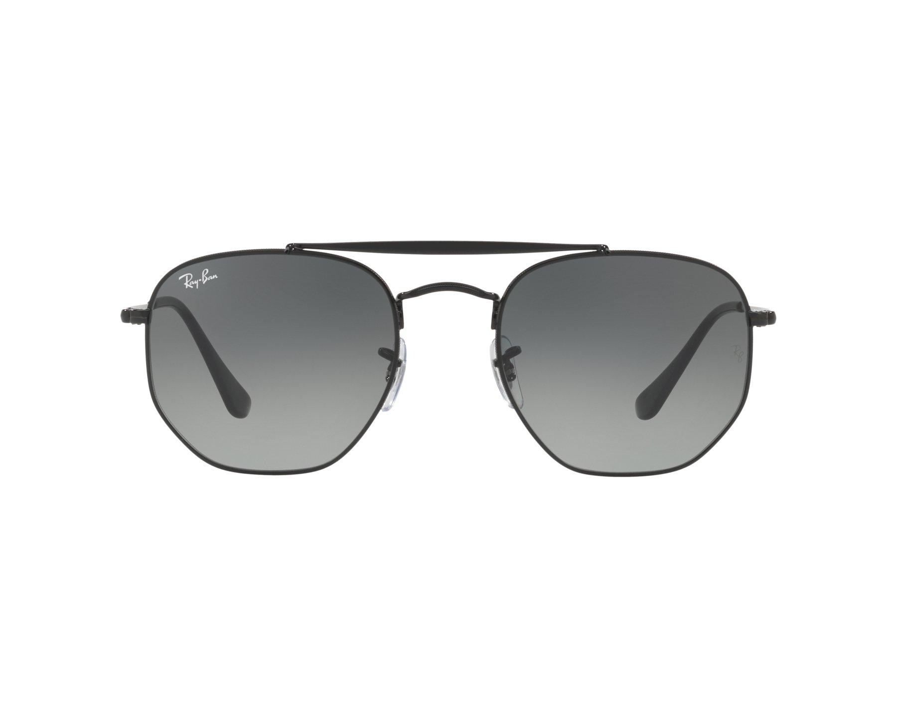 lunettes de soleil ray ban rb 3648 002 71 noir avec des verres gris. Black Bedroom Furniture Sets. Home Design Ideas
