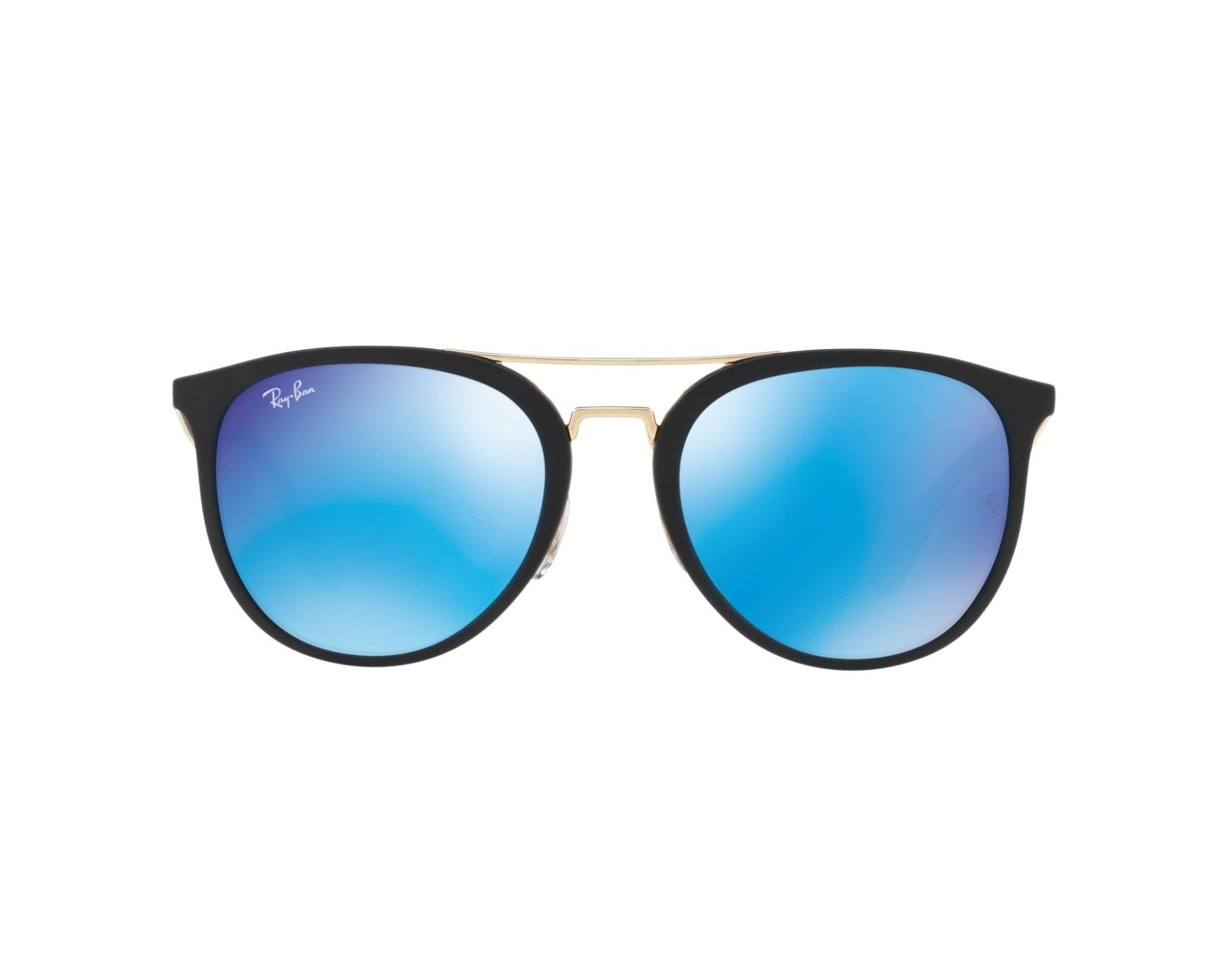 Lunettes de soleil ray ban rb 4285 601s55 noir pas cher for Ray ban verre bleu miroir