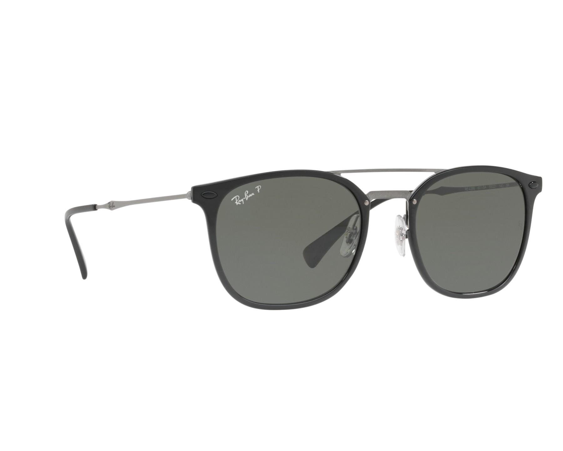 lunettes de soleil ray ban rb 4286 601 9a noir avec des verres gris vert. Black Bedroom Furniture Sets. Home Design Ideas