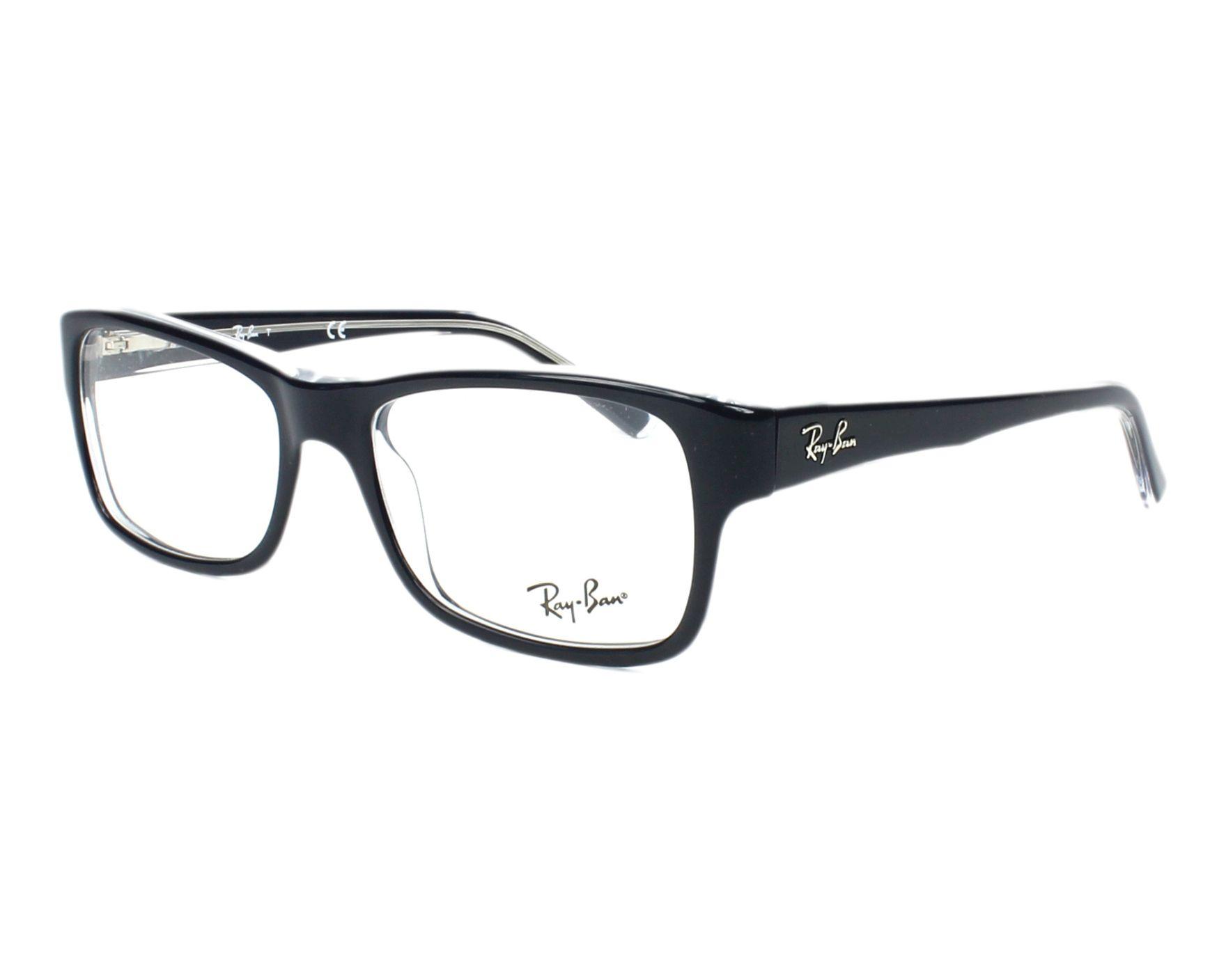 ray ban brille schwarz blau