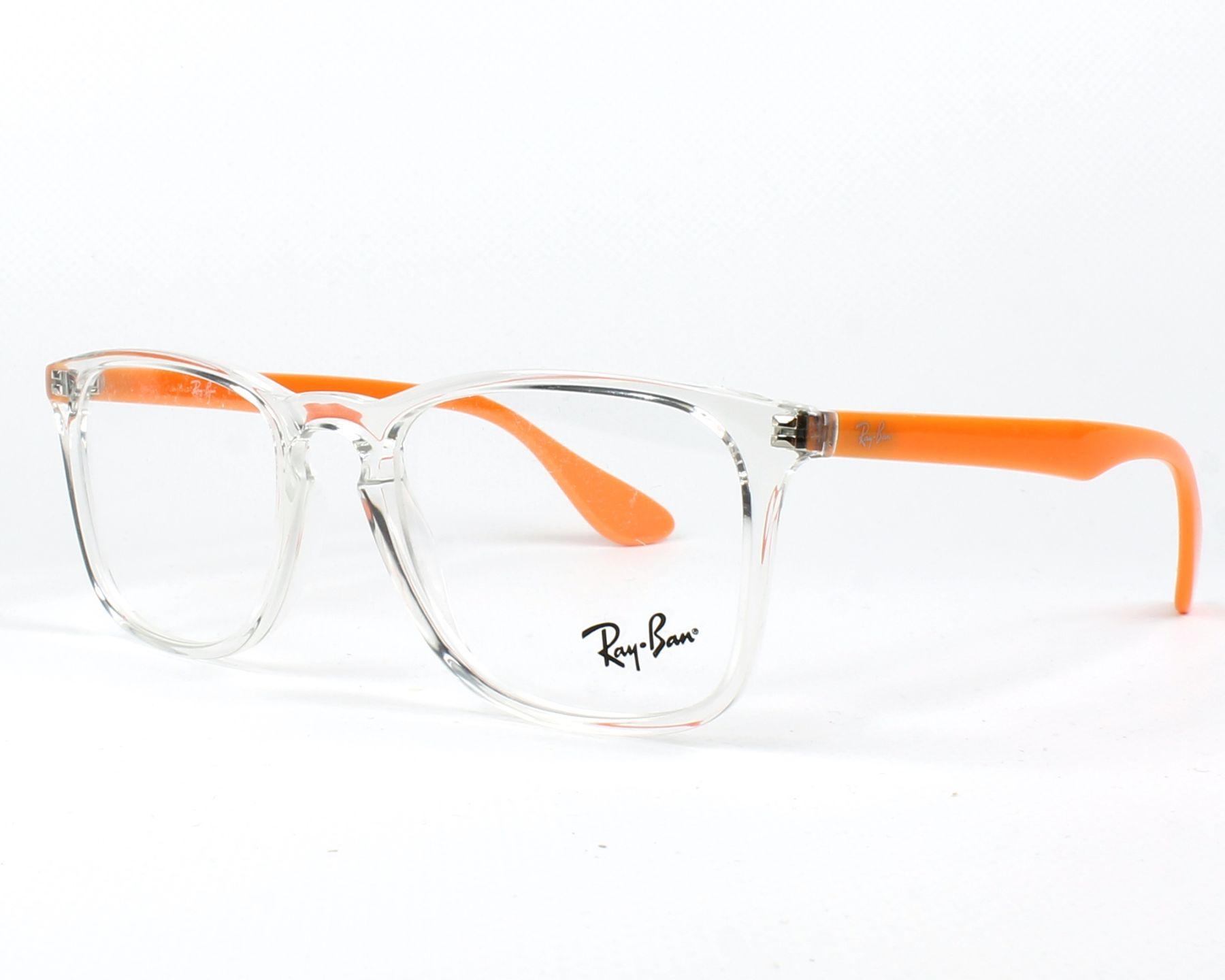 375dfa8dc18 Lunettes de vue Ray-Ban RX-7074 5736 50-18 Cristal Orange vue