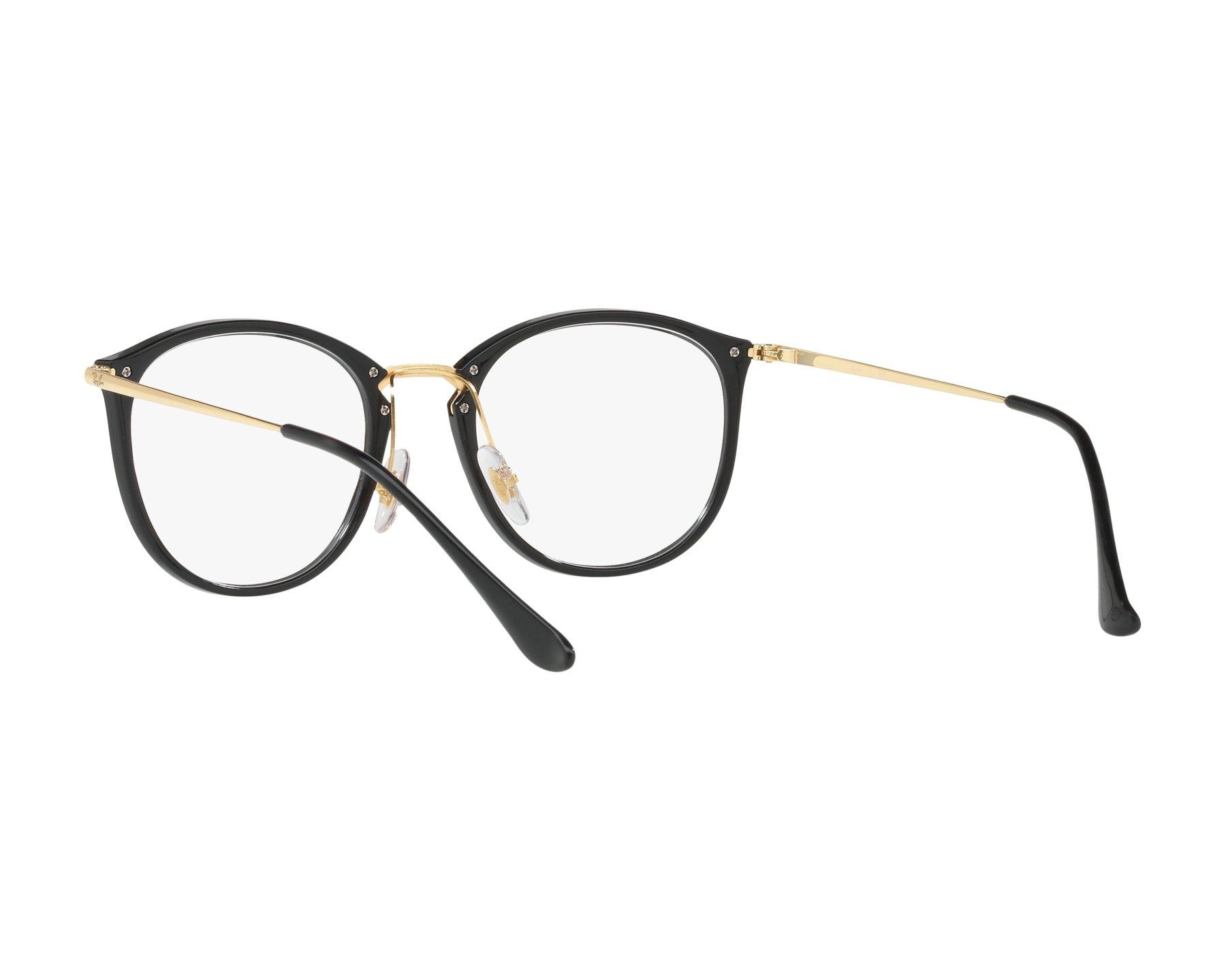 lunette de vue ray ban femme noir et or