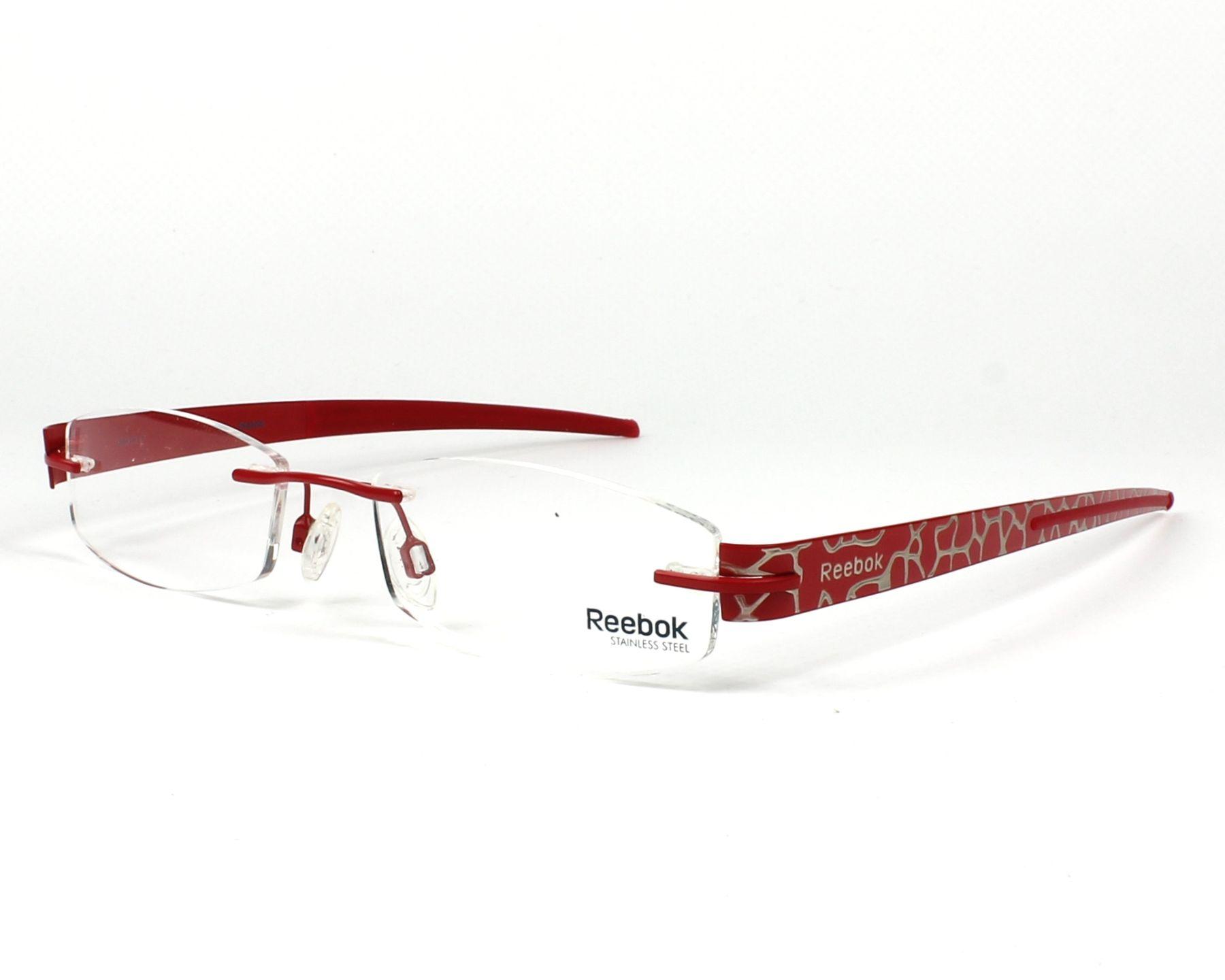reebok lunettes femme rouge