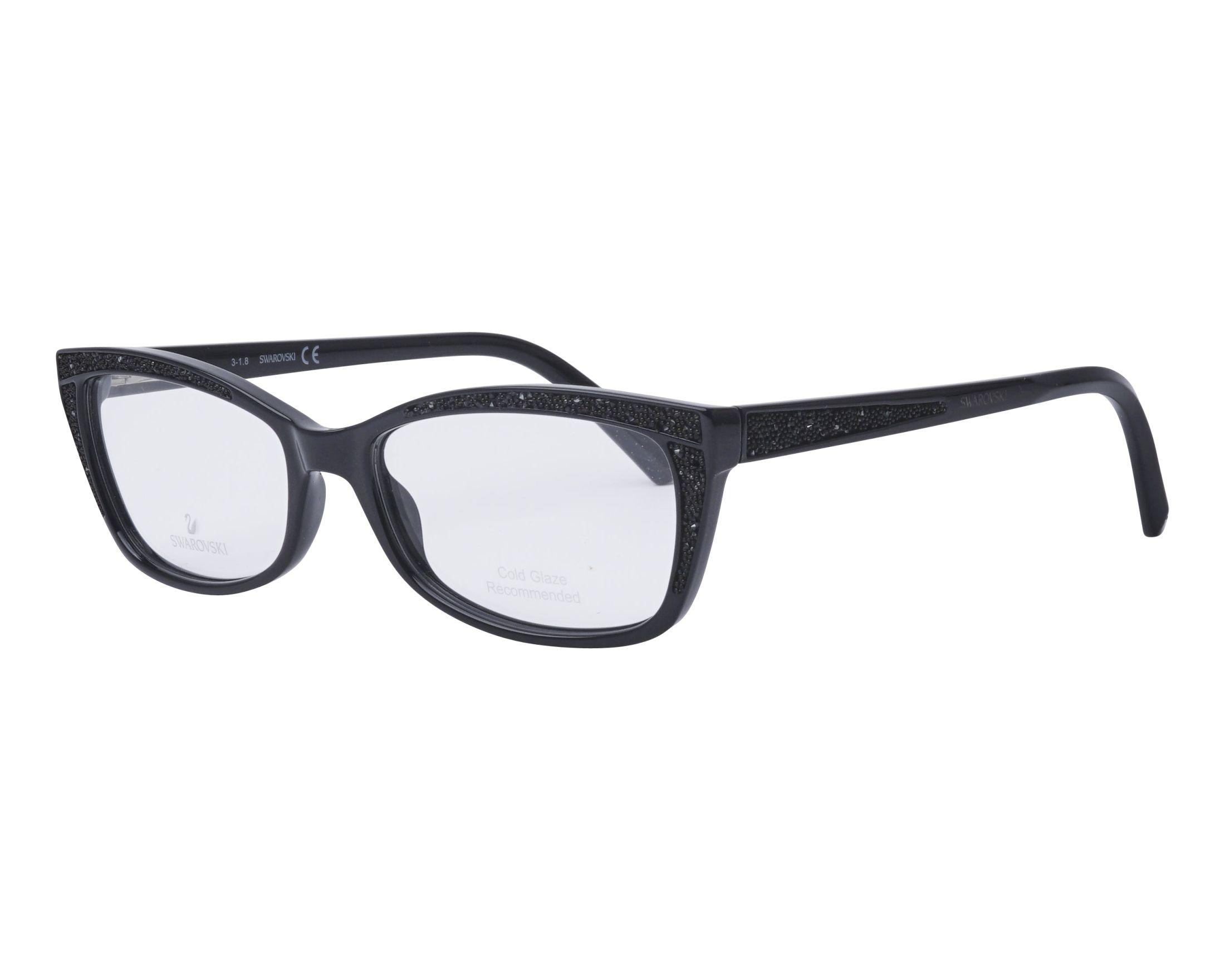 2a5865dc0c0 Lunettes de vue Swarovski SK-5274 001 54-16 Noir Noir vue de profil