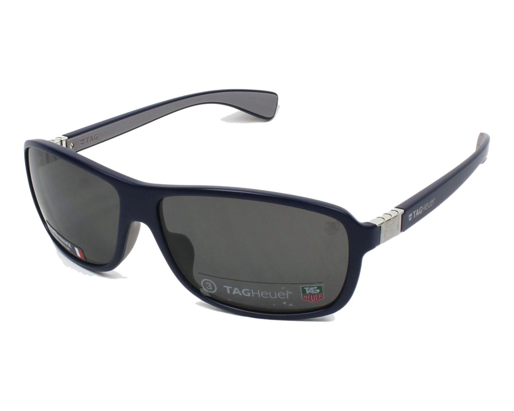 lunettes de soleil tag heuer th 9302 104 bleu avec des verres gris pour hommes. Black Bedroom Furniture Sets. Home Design Ideas