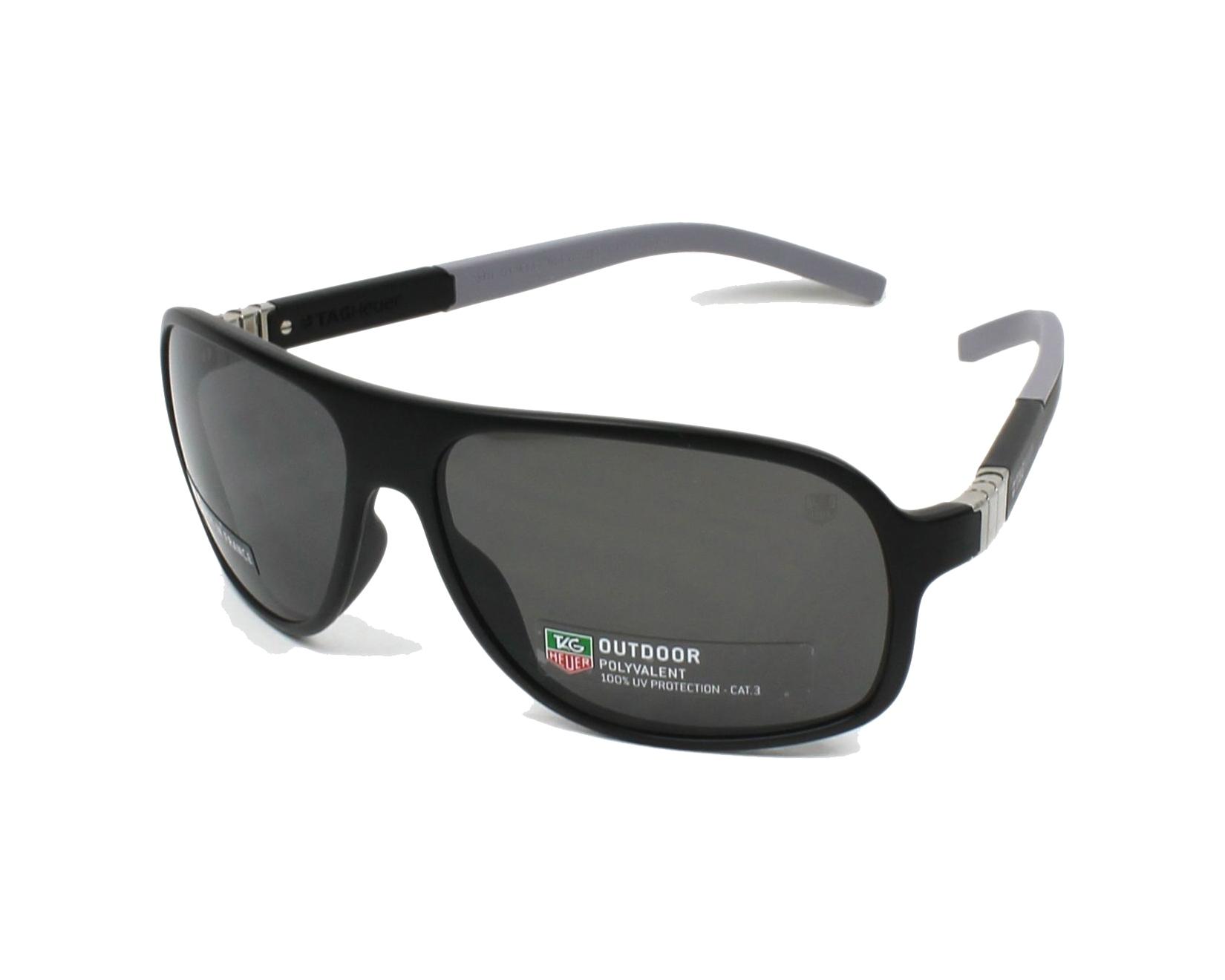 lunettes de soleil tag heuer th 9333 103 noir avec des verres gris pour hommes taille 62 pour. Black Bedroom Furniture Sets. Home Design Ideas