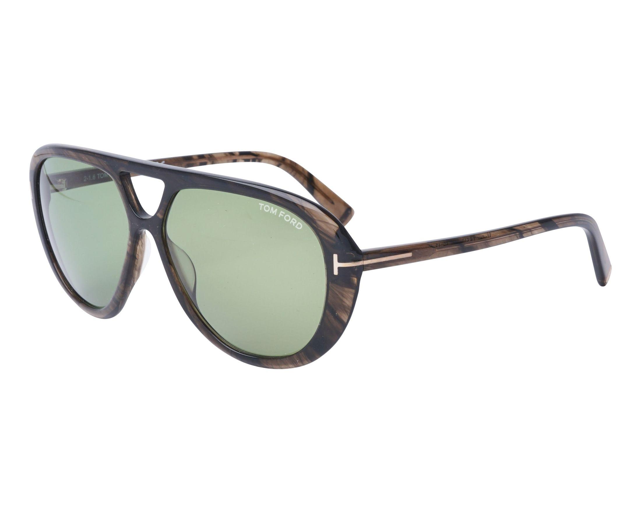 0b7169b989d7d3 Lunettes de soleil Tom Ford FT-510 20N 59-13 Vert vue de profil