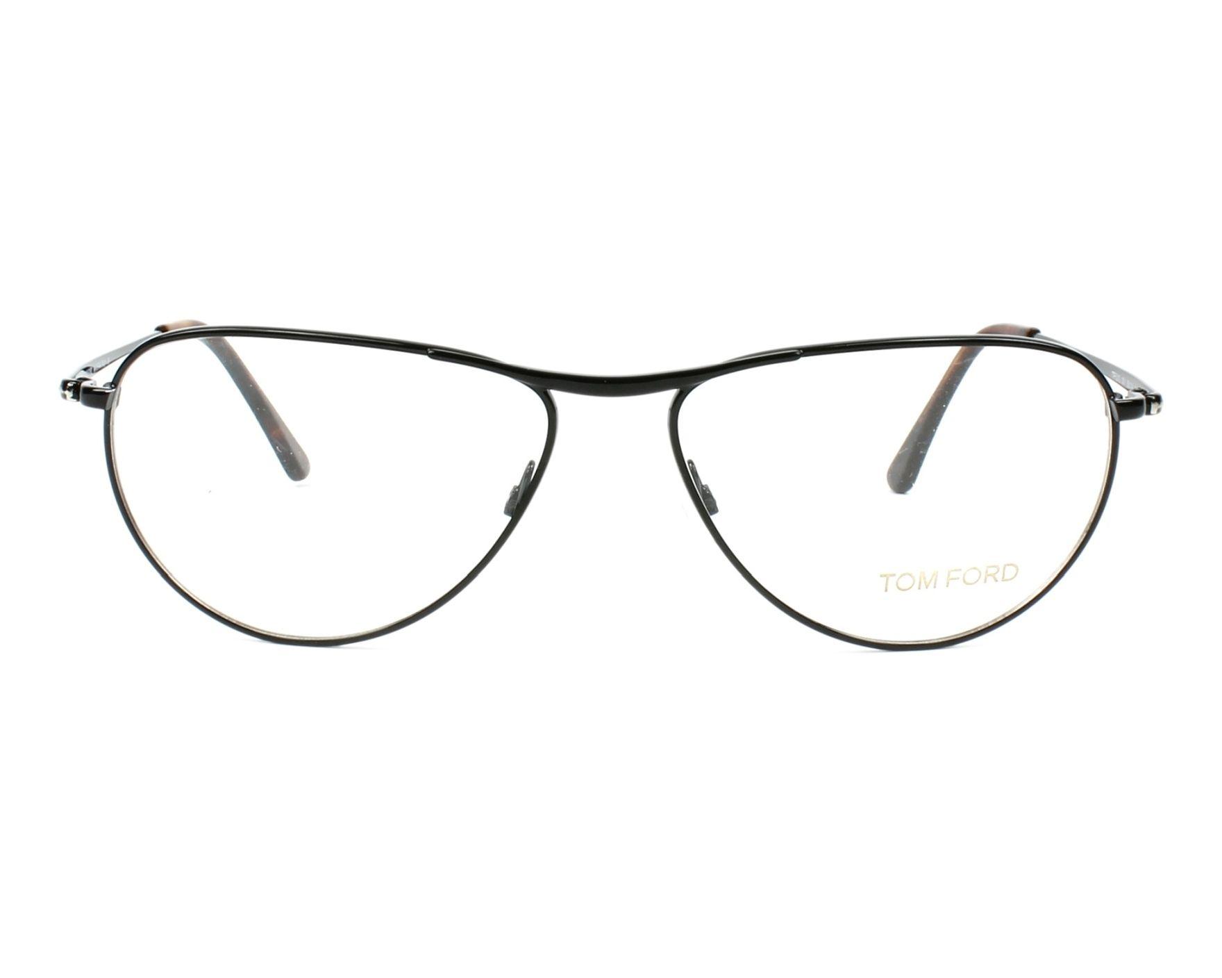 42caa7257a81e Lunettes de vue Tom Ford TF-5210 001 56-14 Noir vue de face